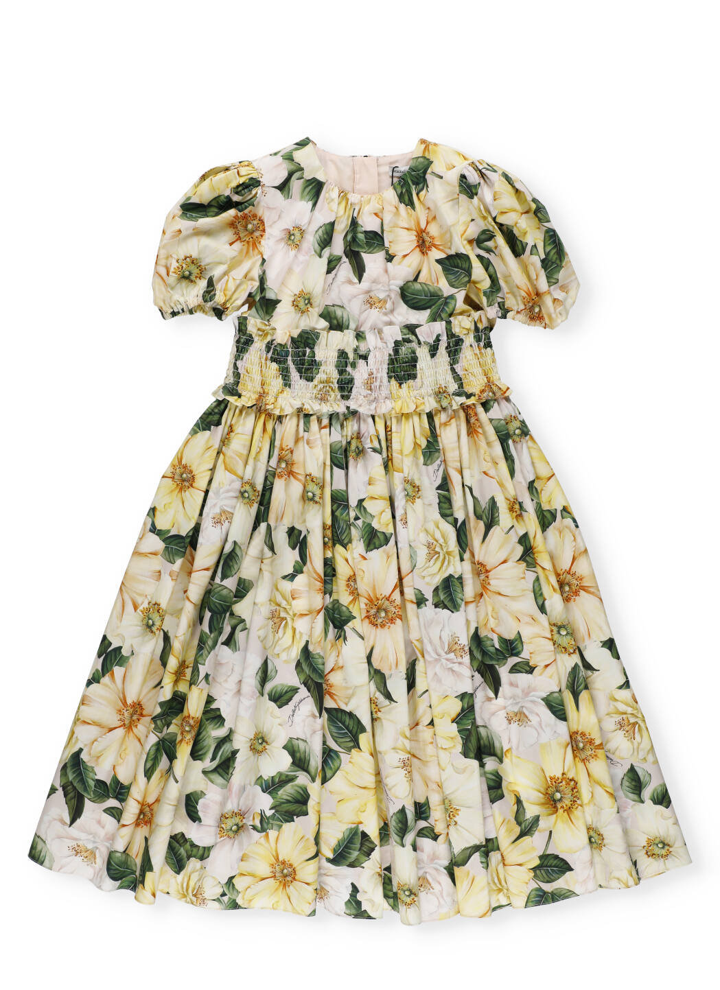 Buy Dolce & Gabbana Camelie Cotton Dress online, shop Dolce & Gabbana with free shipping