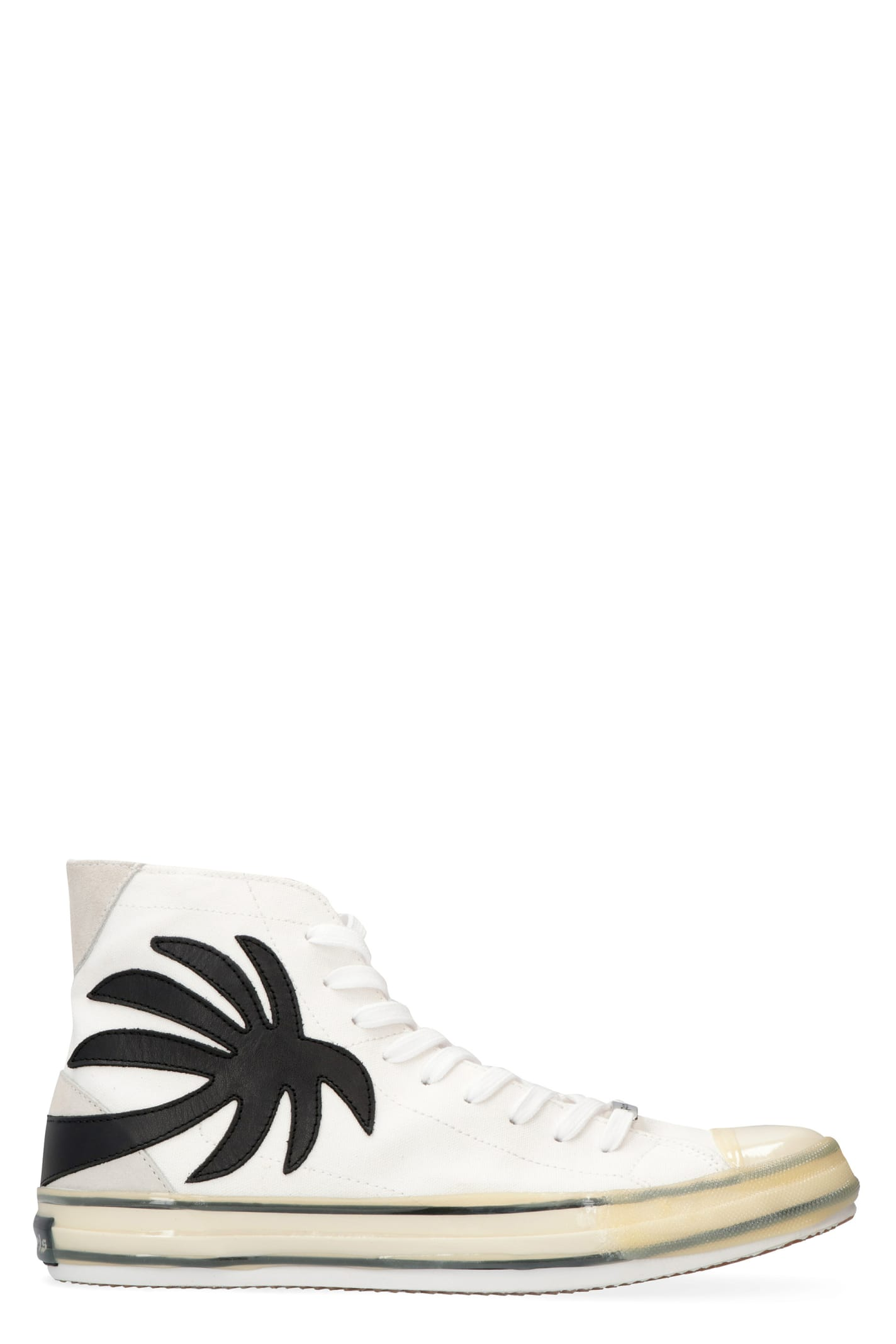 Palm Angels Leathers CANVAS HIGH-TOP SNEAKERS