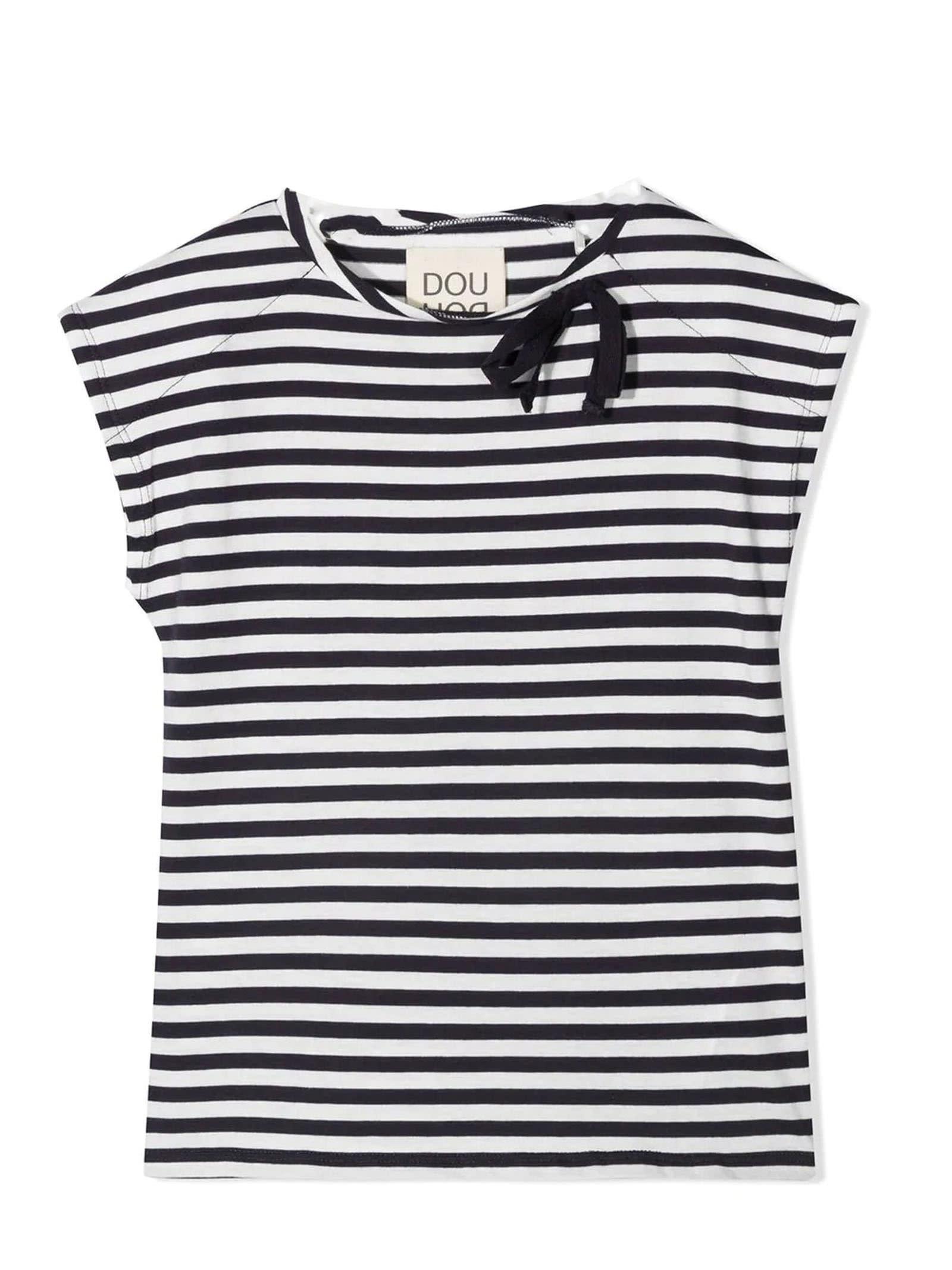 Black And White Cotton-blend T-shirt