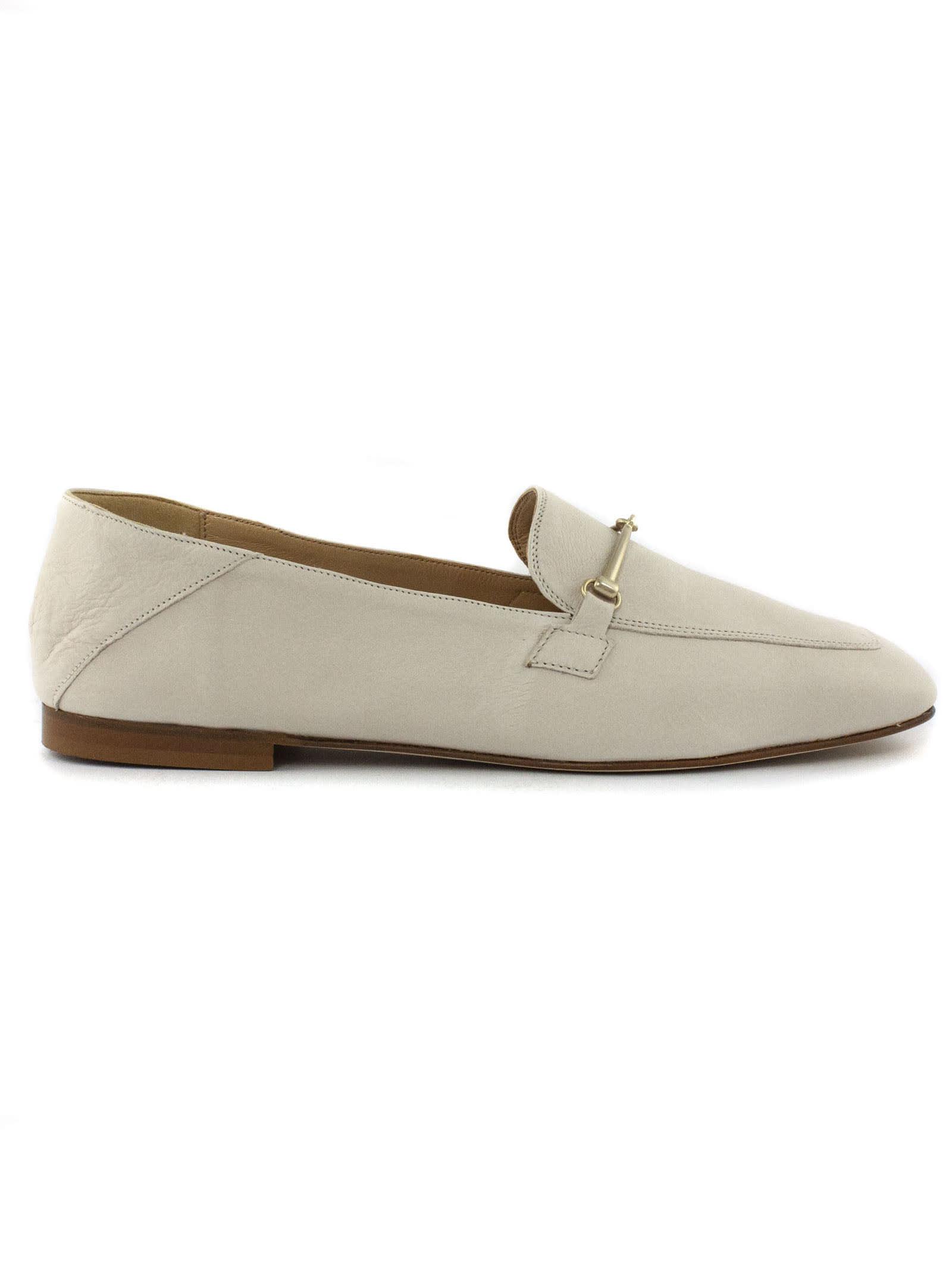 Ecru Leather Loafer