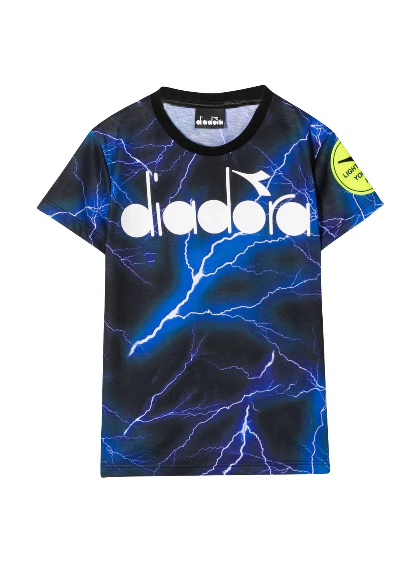 Diadora Diadora Kids Blue T-shirt