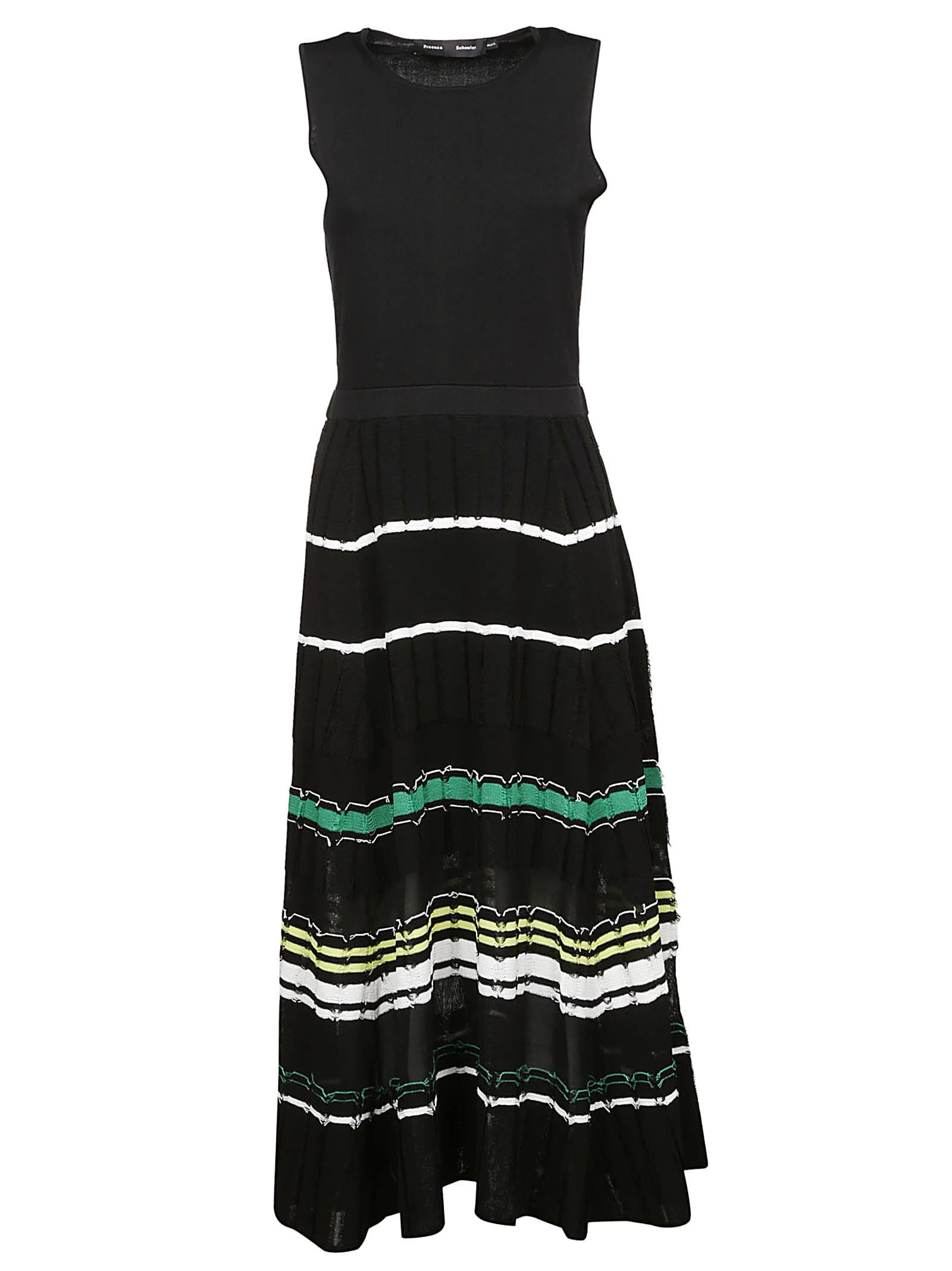 Buy Proenza Schouler Flared Stripe Dress online, shop Proenza Schouler with free shipping