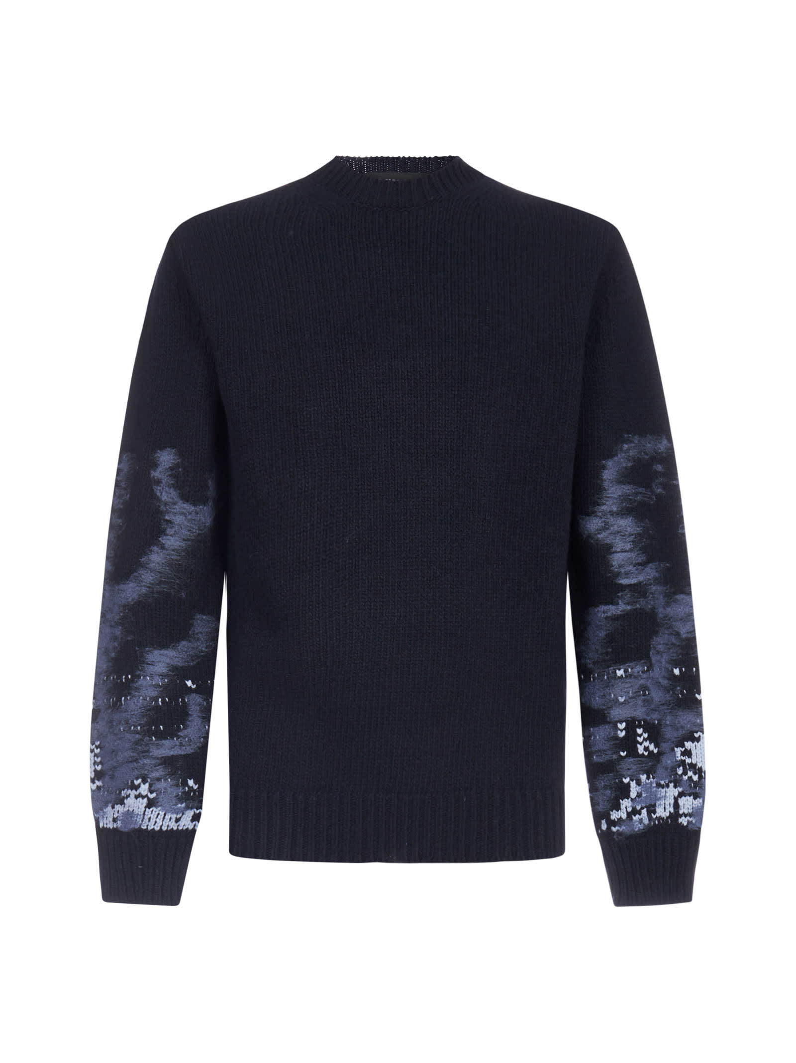 Les Hommes JACQUARD WOOL SWEATER