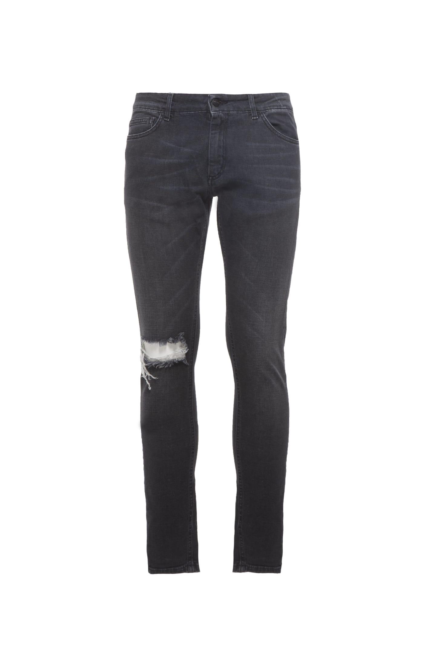 Jeans Denim Washed Black