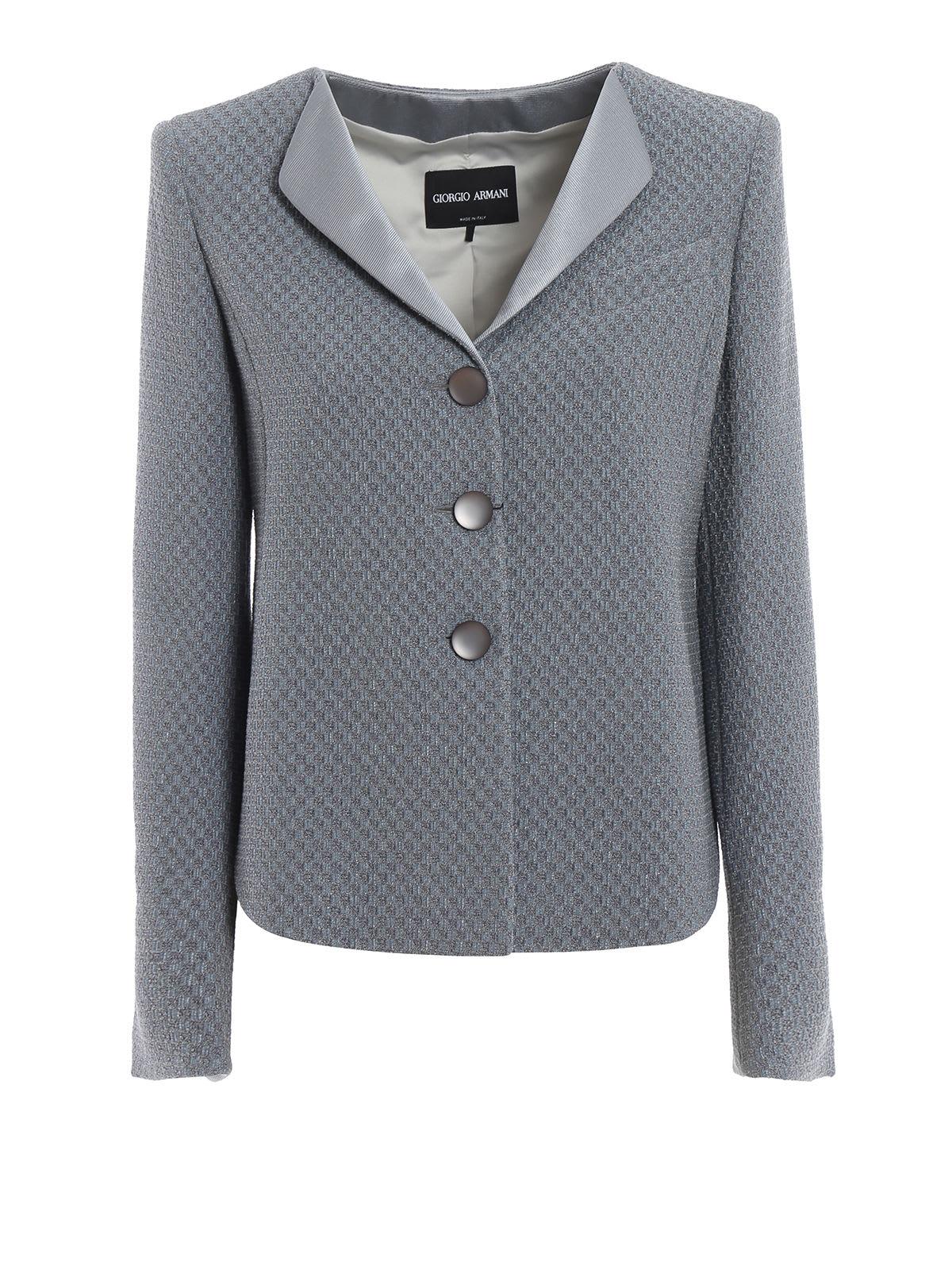 Giorgio Armani Checkerboard Jacquard Jacket