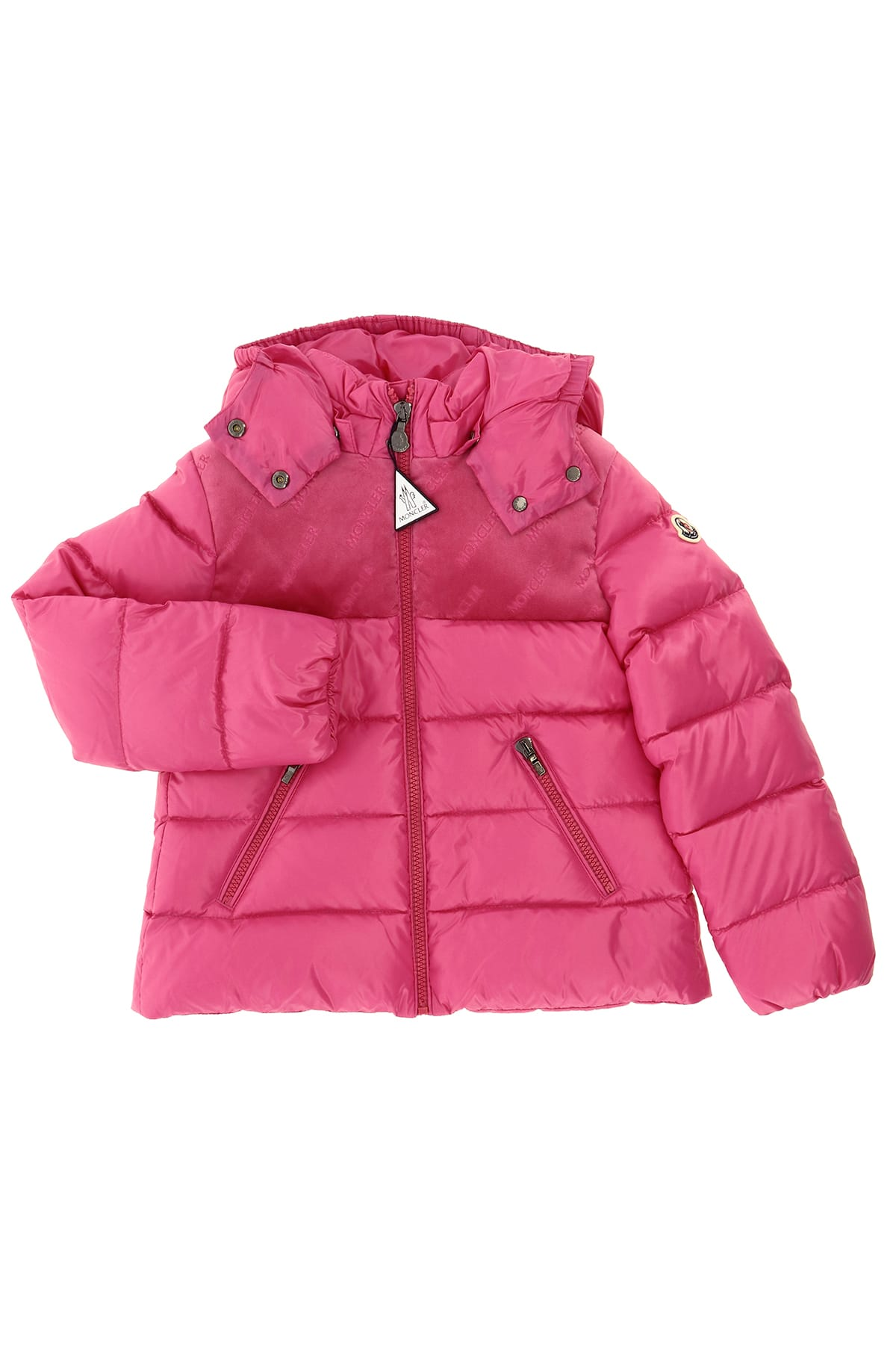 Moncler Kids' Pasapale Down Jacket With Detachable Hood In Fucsia