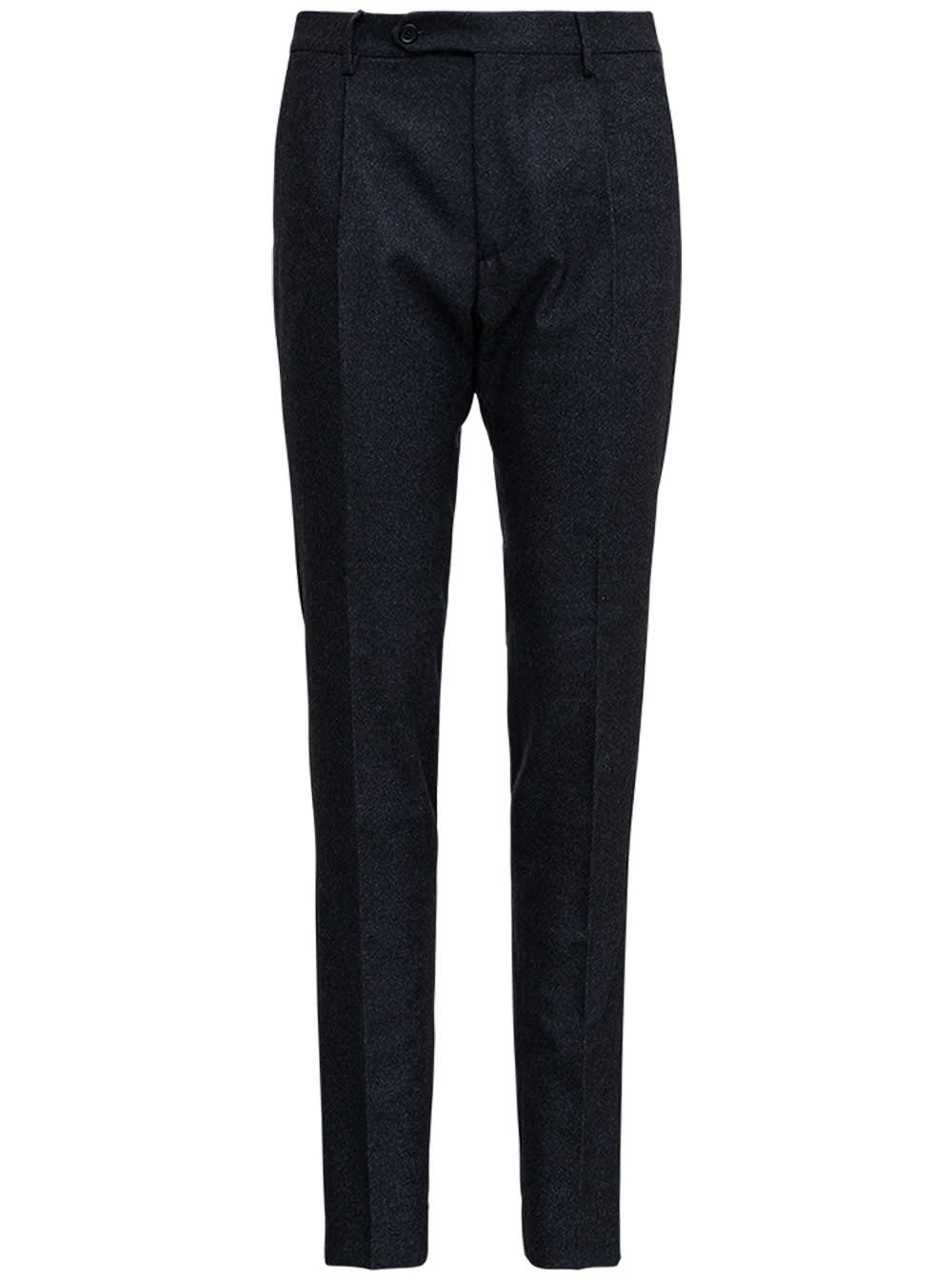 Grey Tailored Wool Trousers