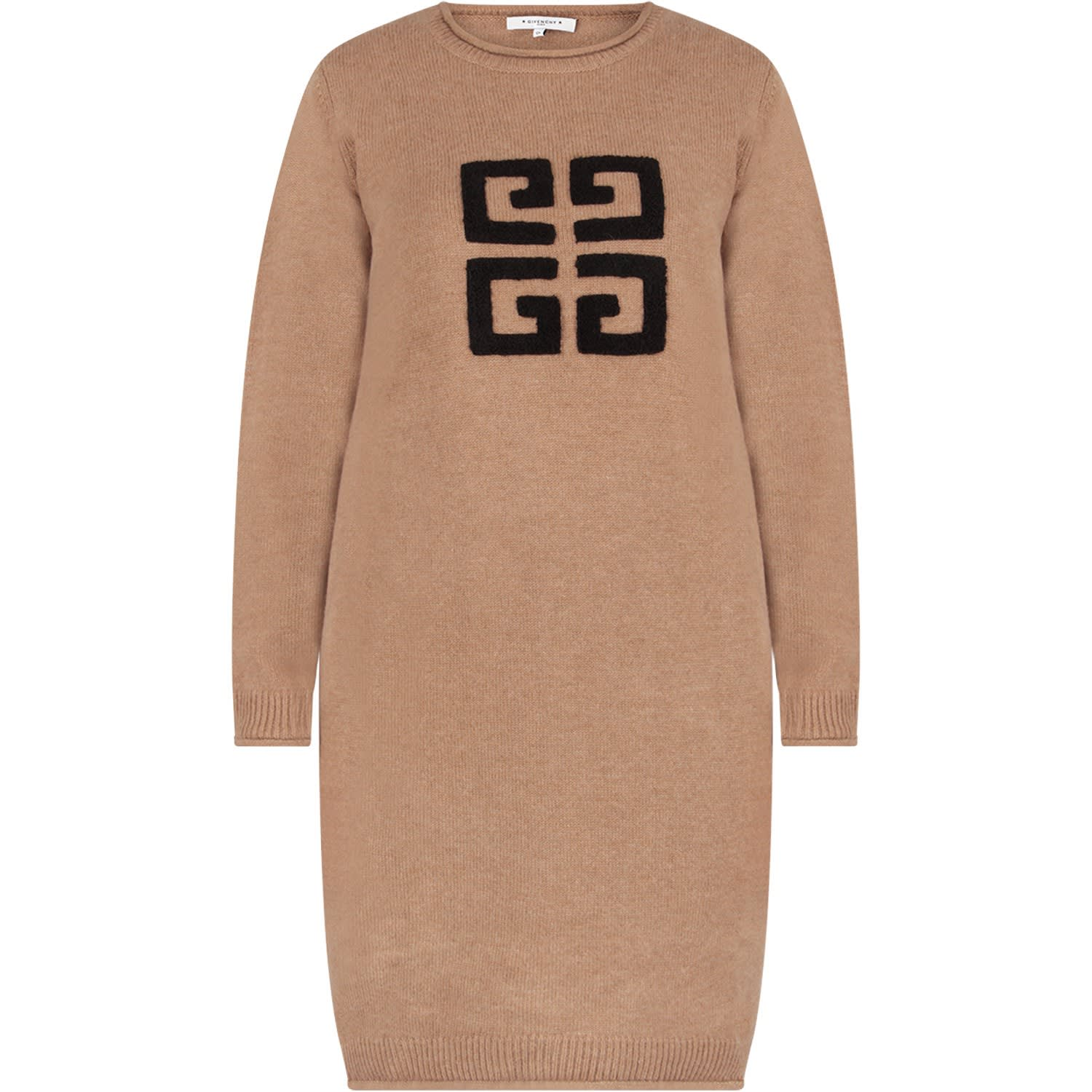 Givenchy Camel Girl Dress With Black Vintage Logo
