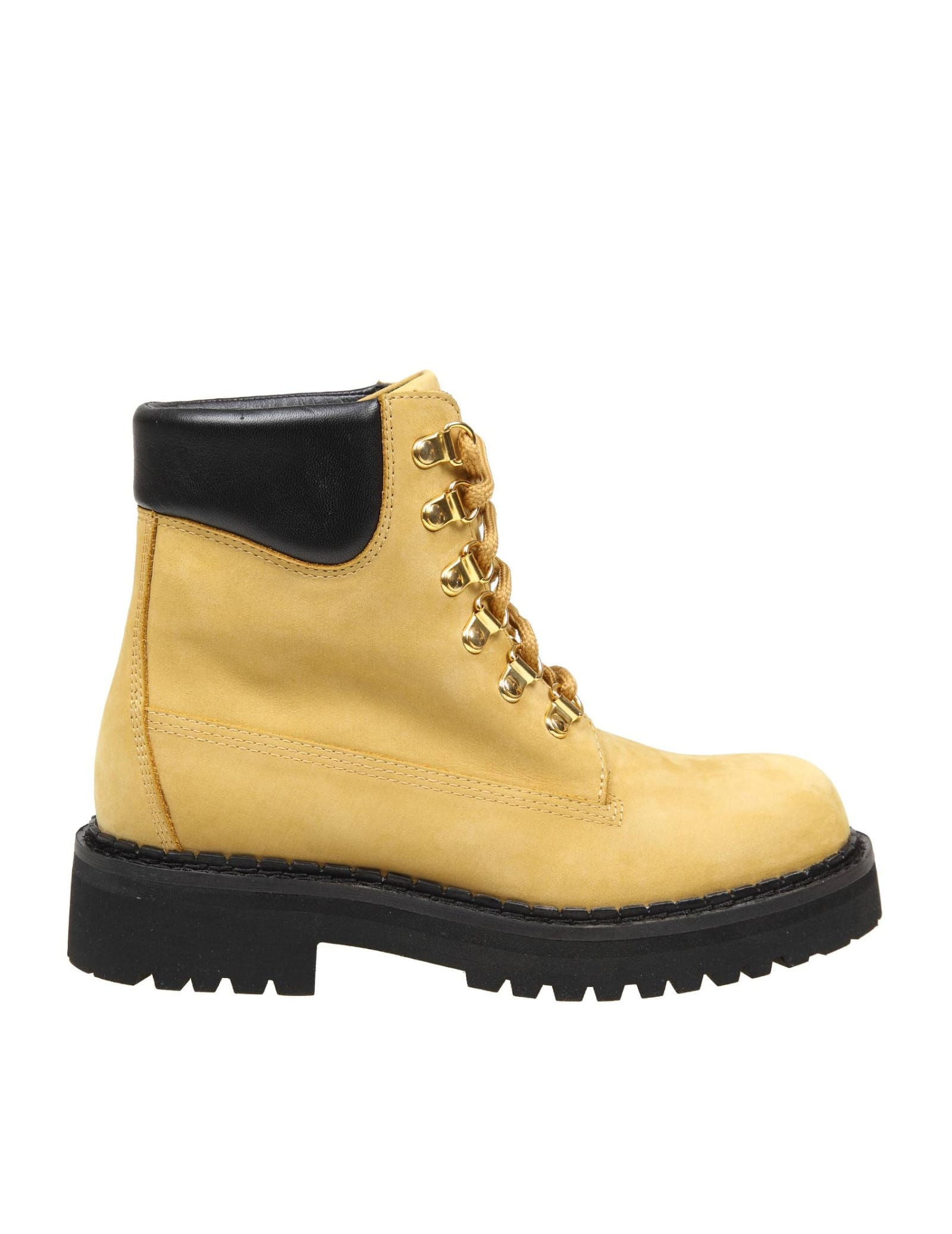 Moschino Boot In Nubuck Color Natural