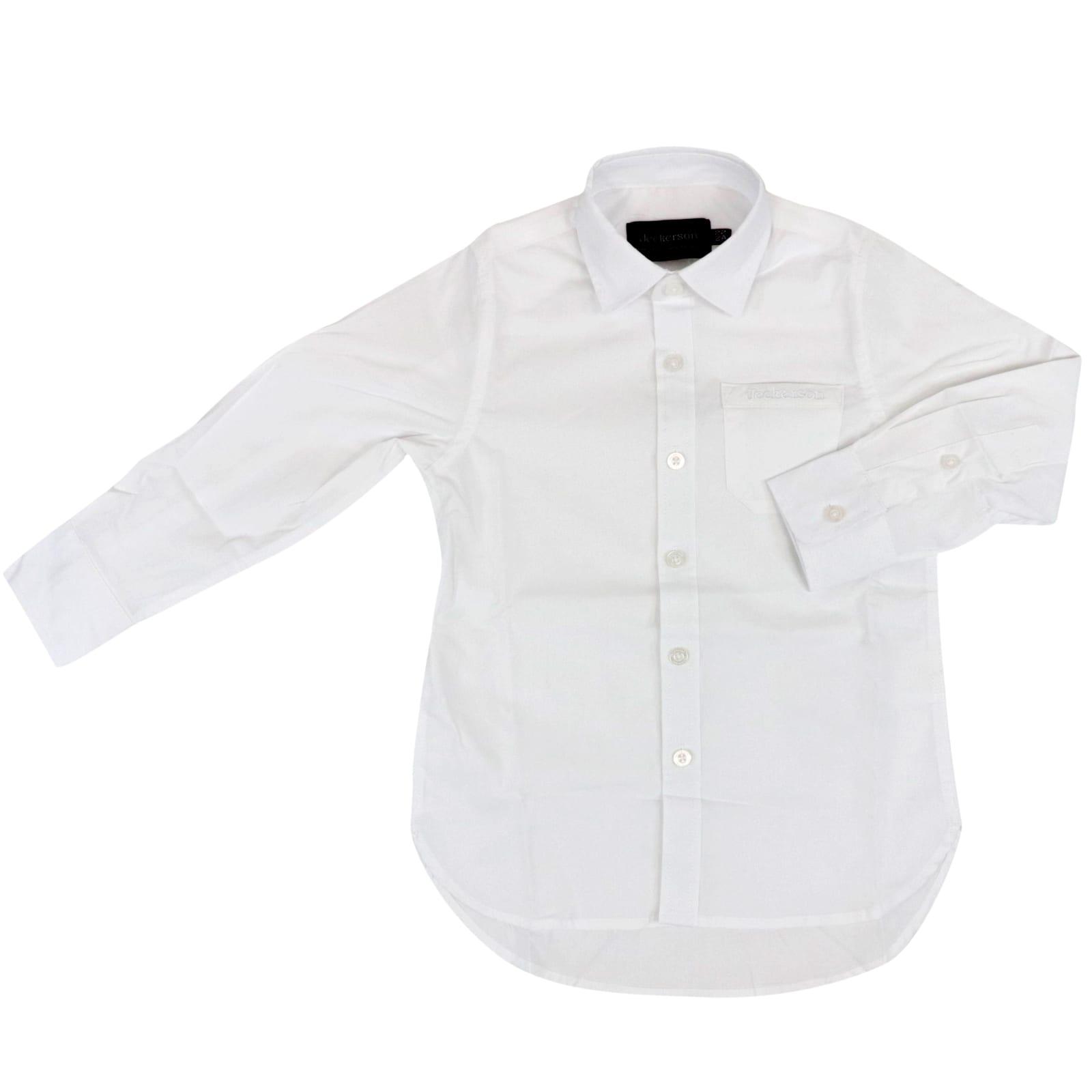 Jeckerson Kids' Cotton Shirt In White