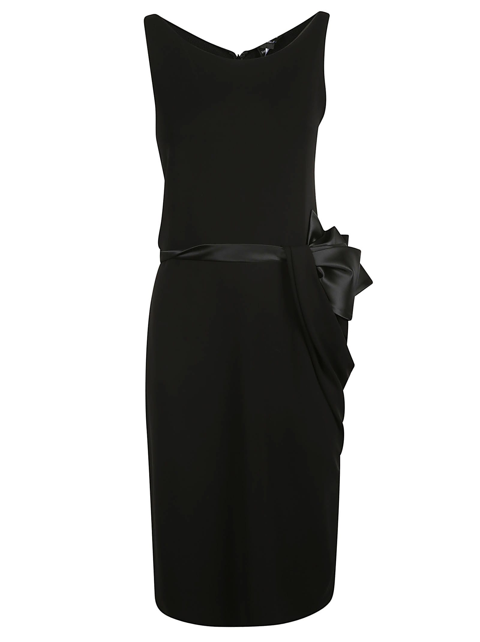 Emporio Armani Sleeveless Side Bow Detail Dress
