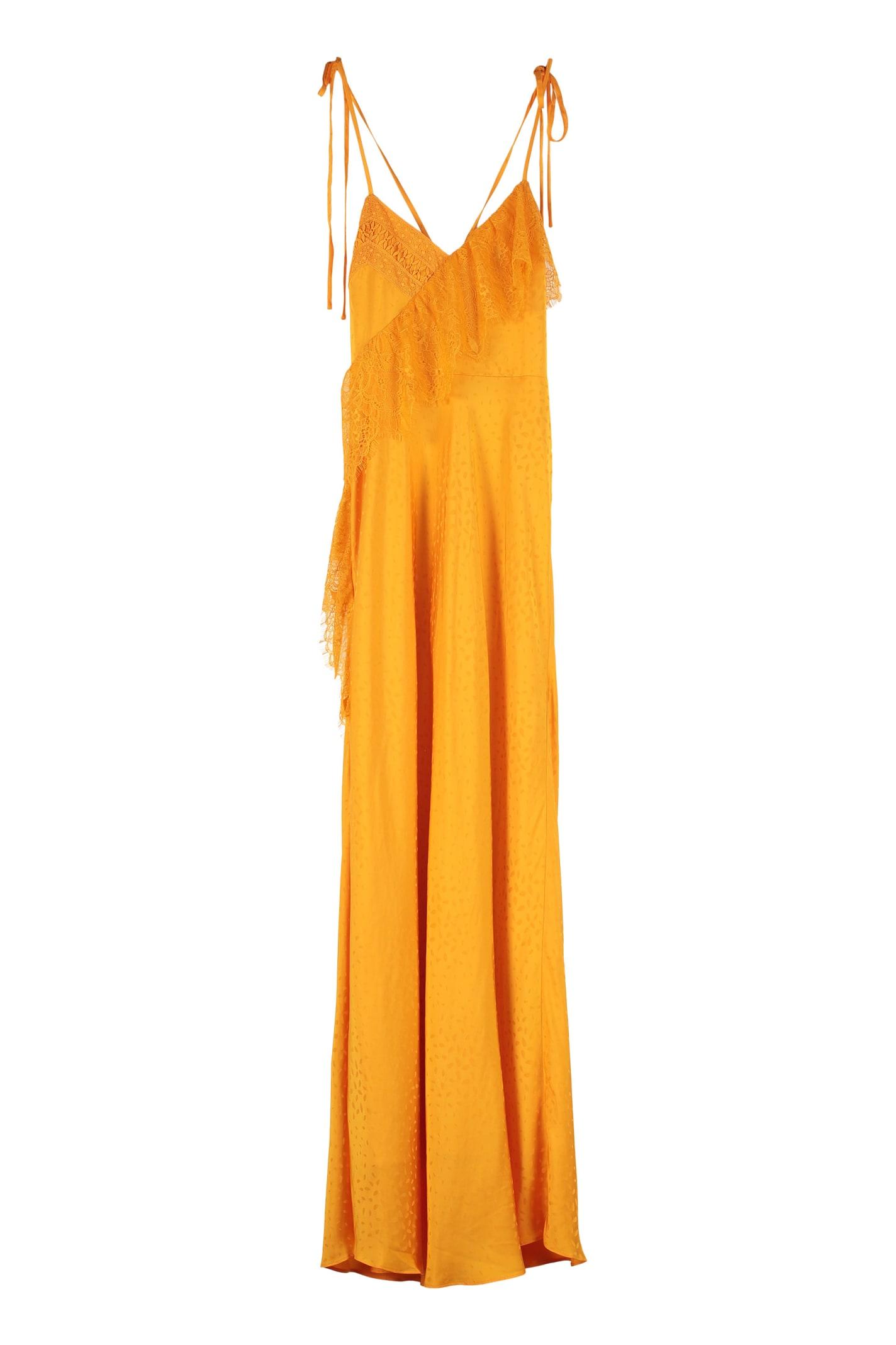 self-portrait Frilled Jacquard Dress