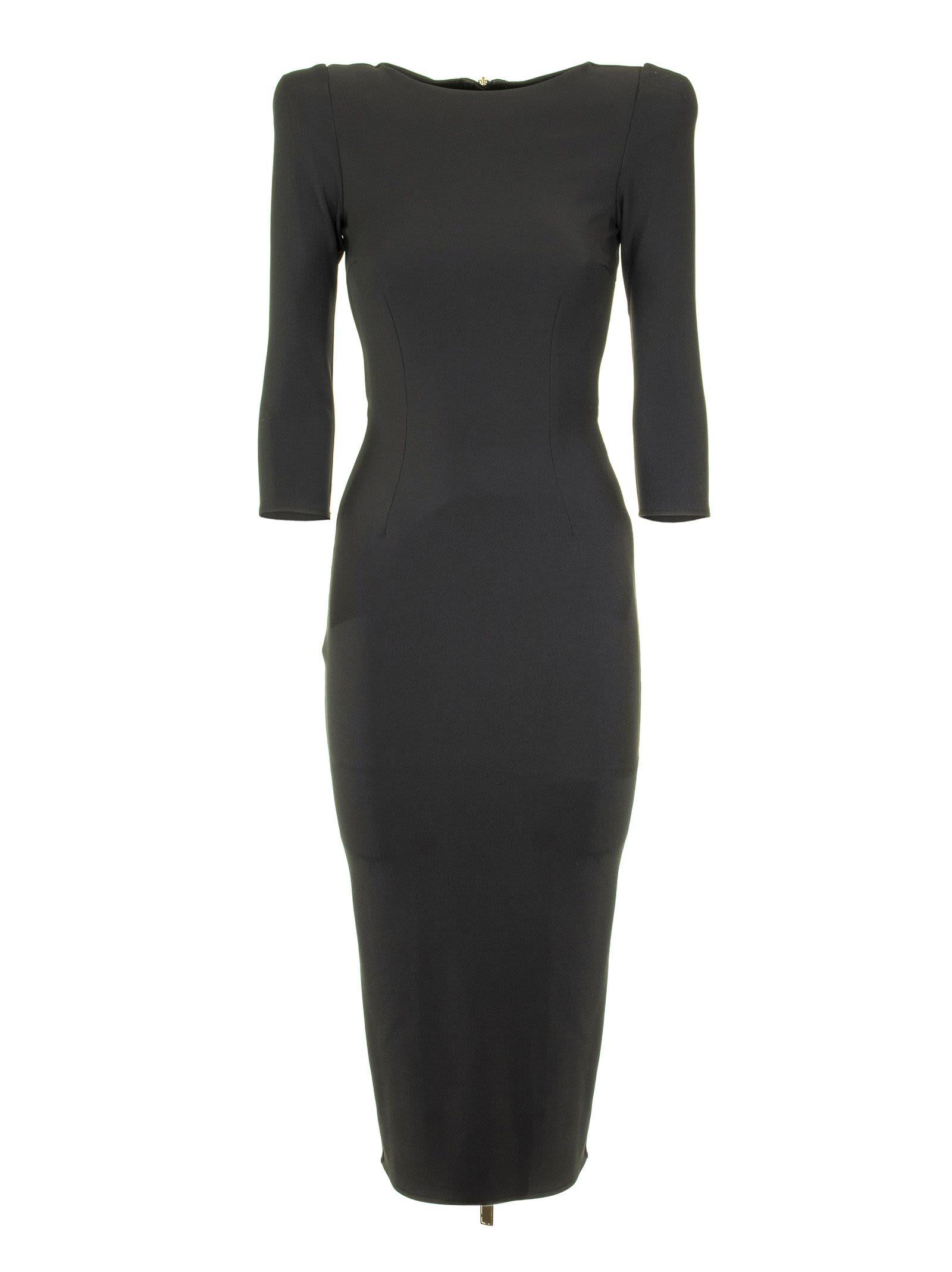 Elisabetta Franchi Celyn B. Calf-length Black Dress