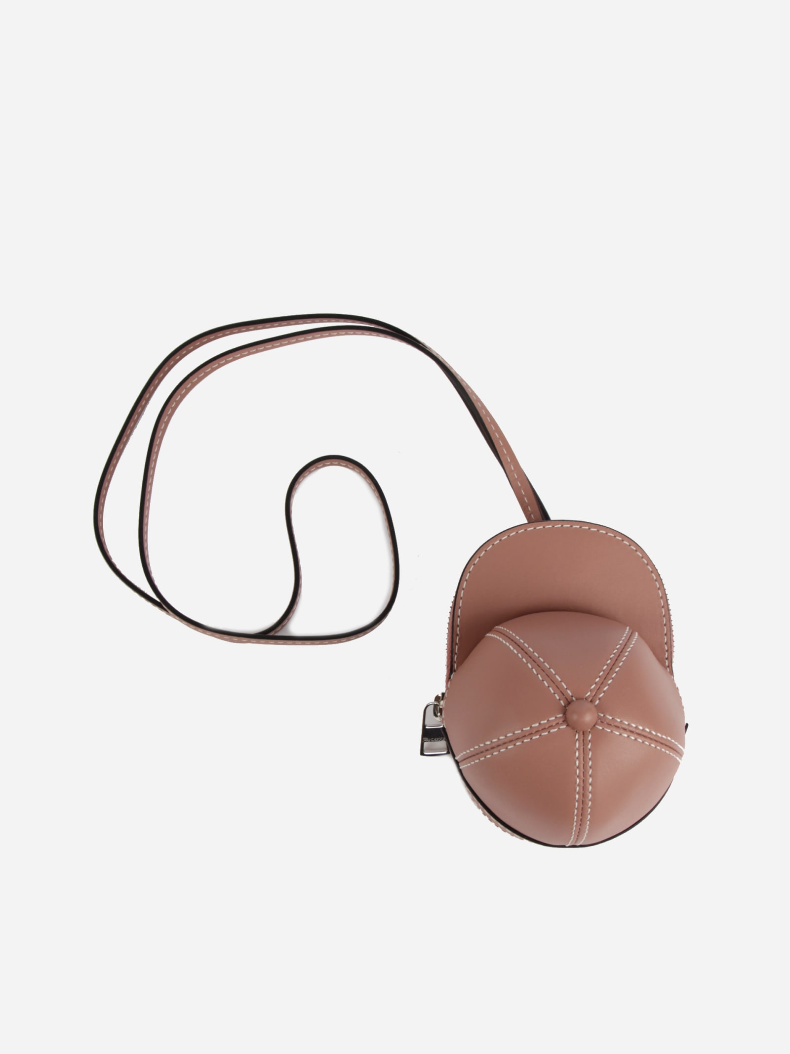 Jw Anderson Nano Cap Leather Bag In Pink