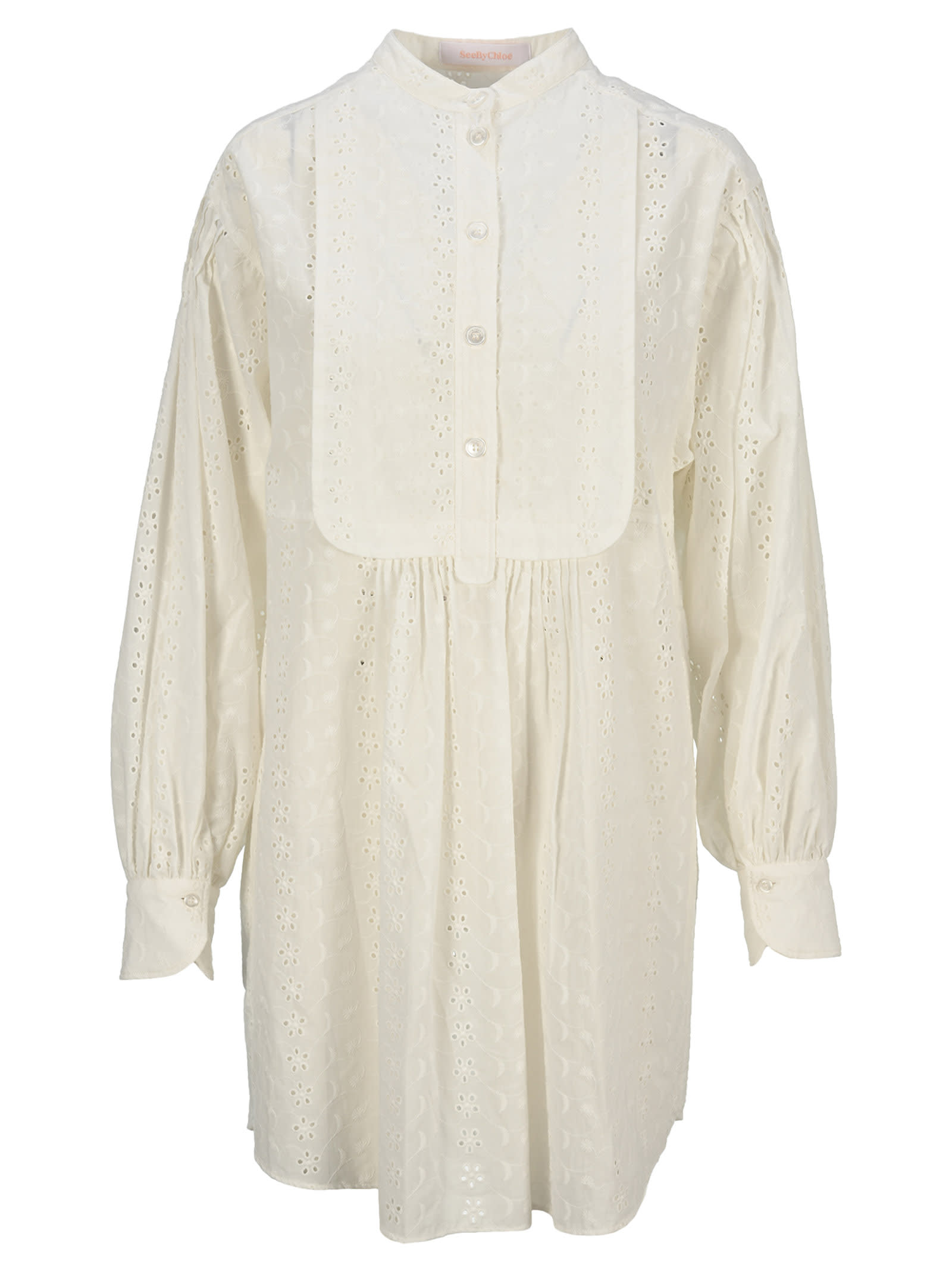 See By Chloé Dresses SEE BY CHLOE BRODERIE ANGLAISE SHIRT DRESS