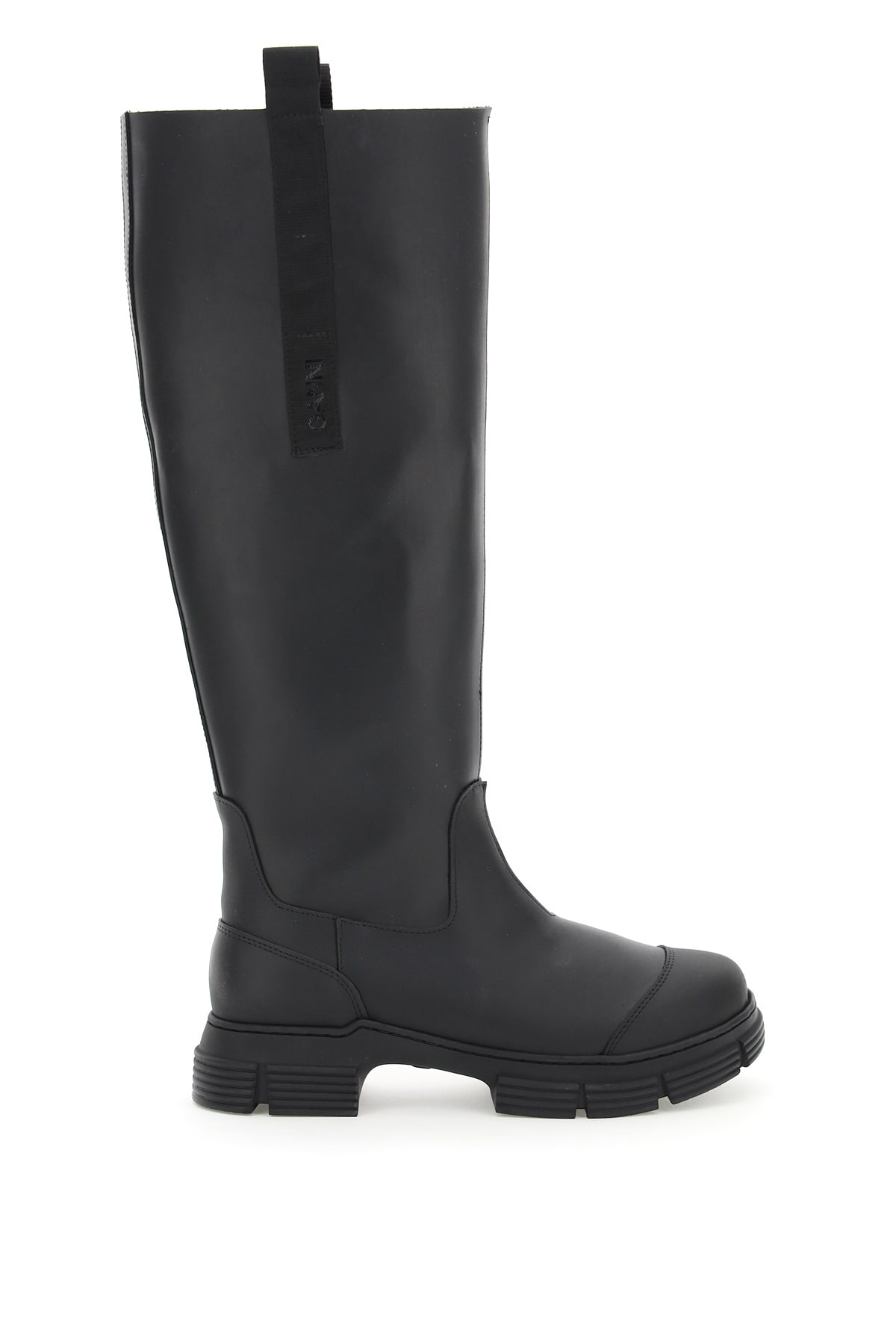 Ganni Leathers RECYCLED RUBBER BOOTS
