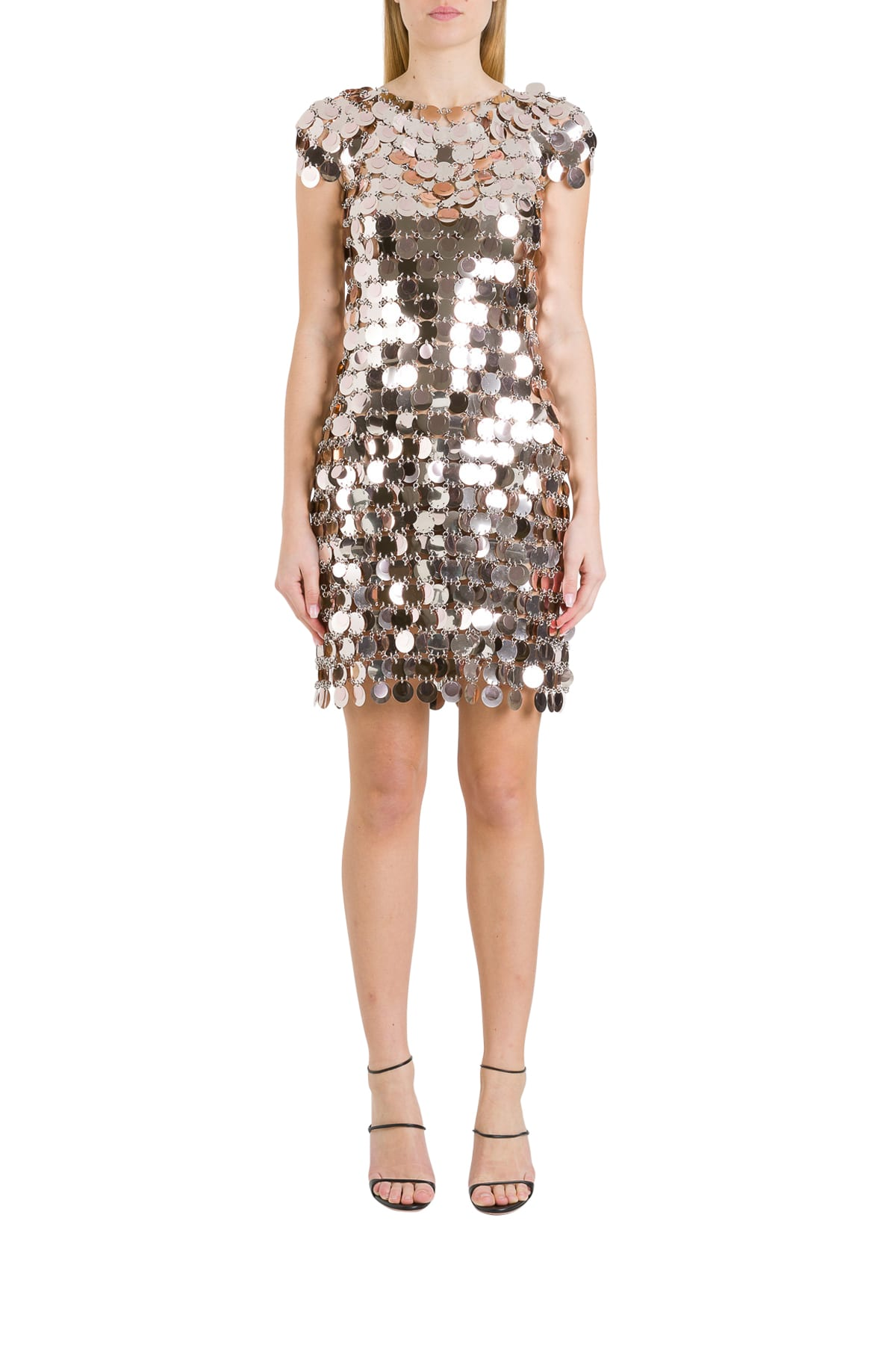 Buy Paco Rabanne Metallic Dress online, shop Paco Rabanne with free shipping