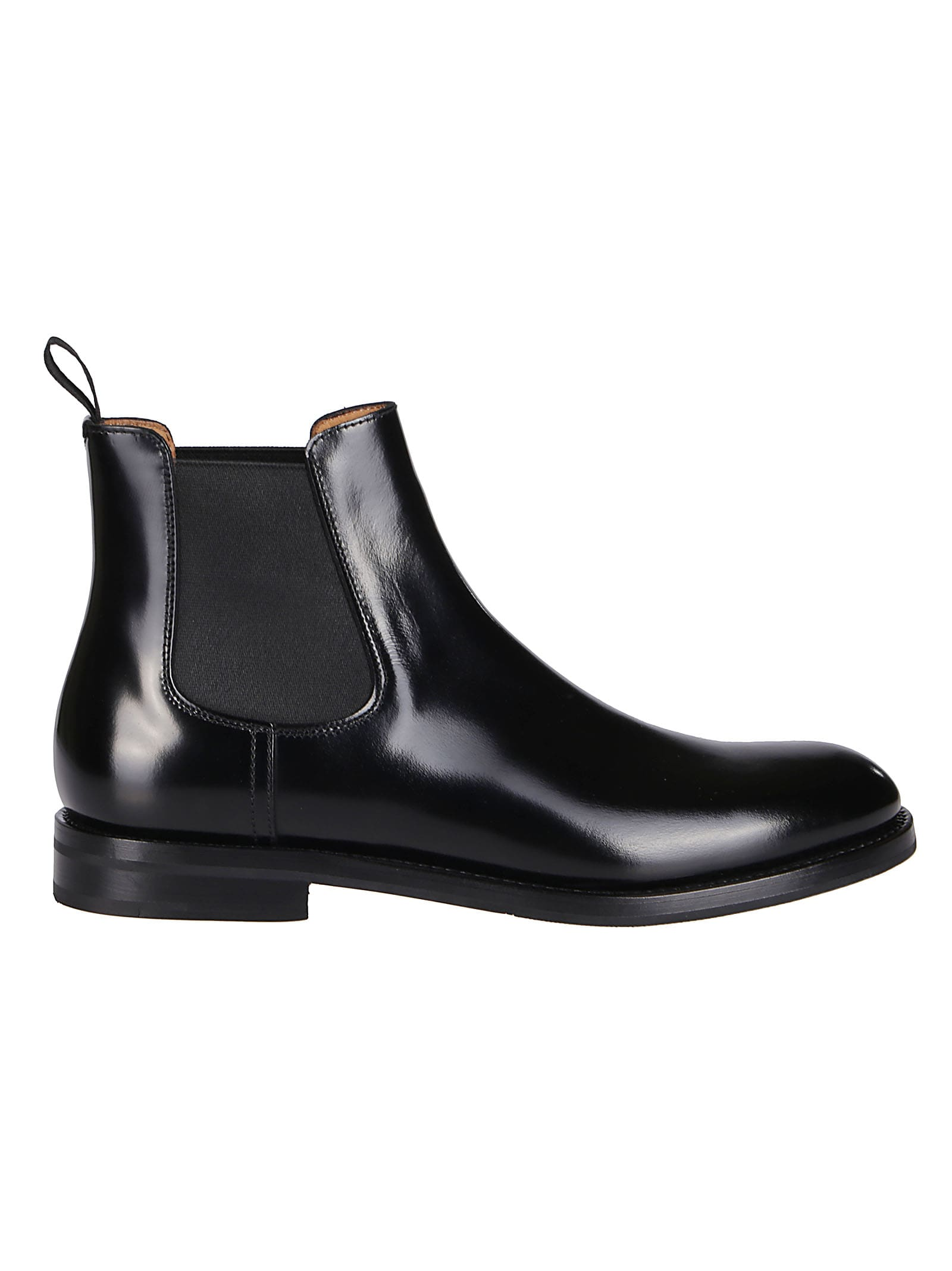 CHURCH'S BLACK LEATHER MONMOUTH CHELSEA BOOTS