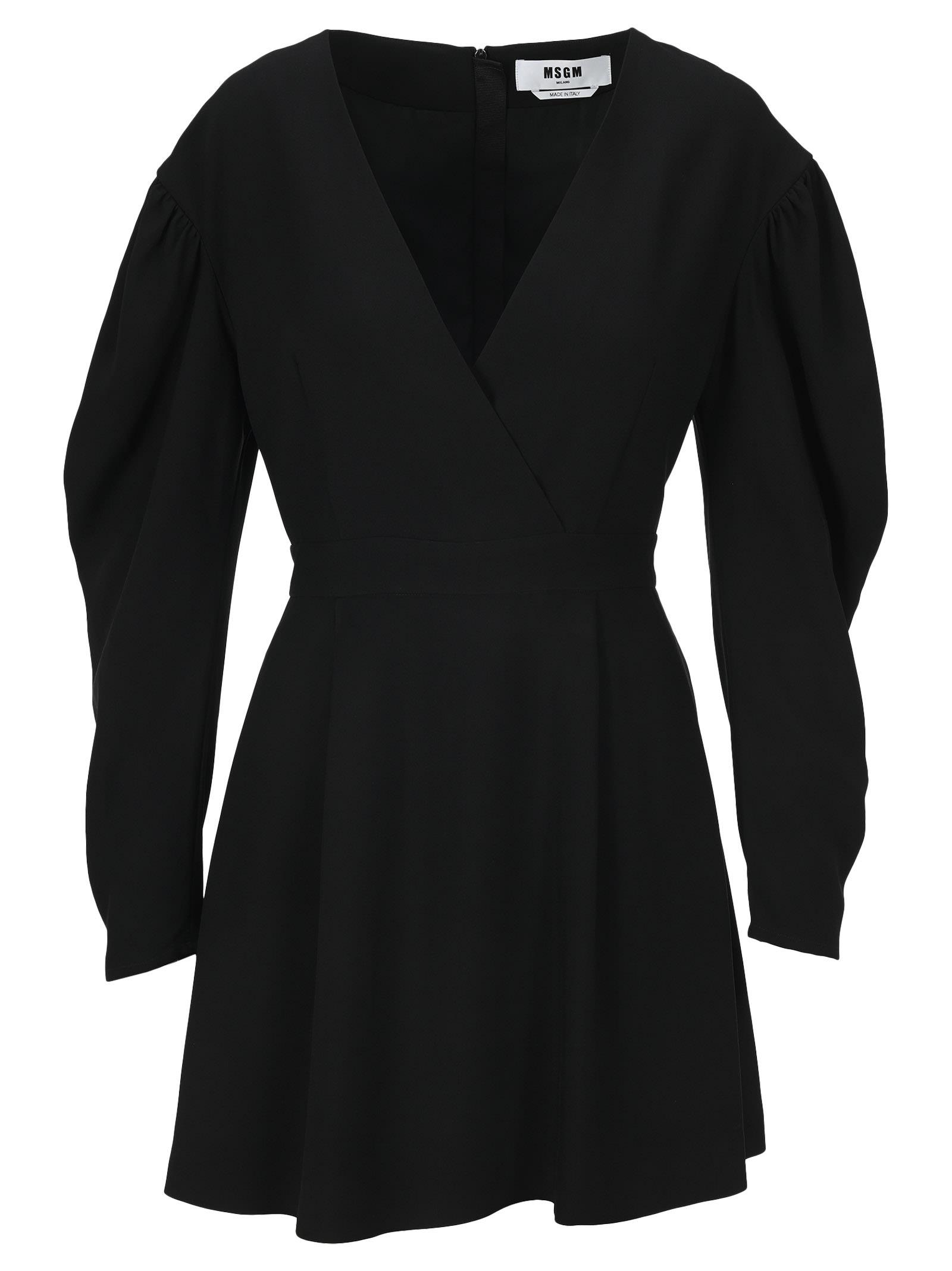 Buy Msgm Wrap Mini Dress online, shop MSGM with free shipping
