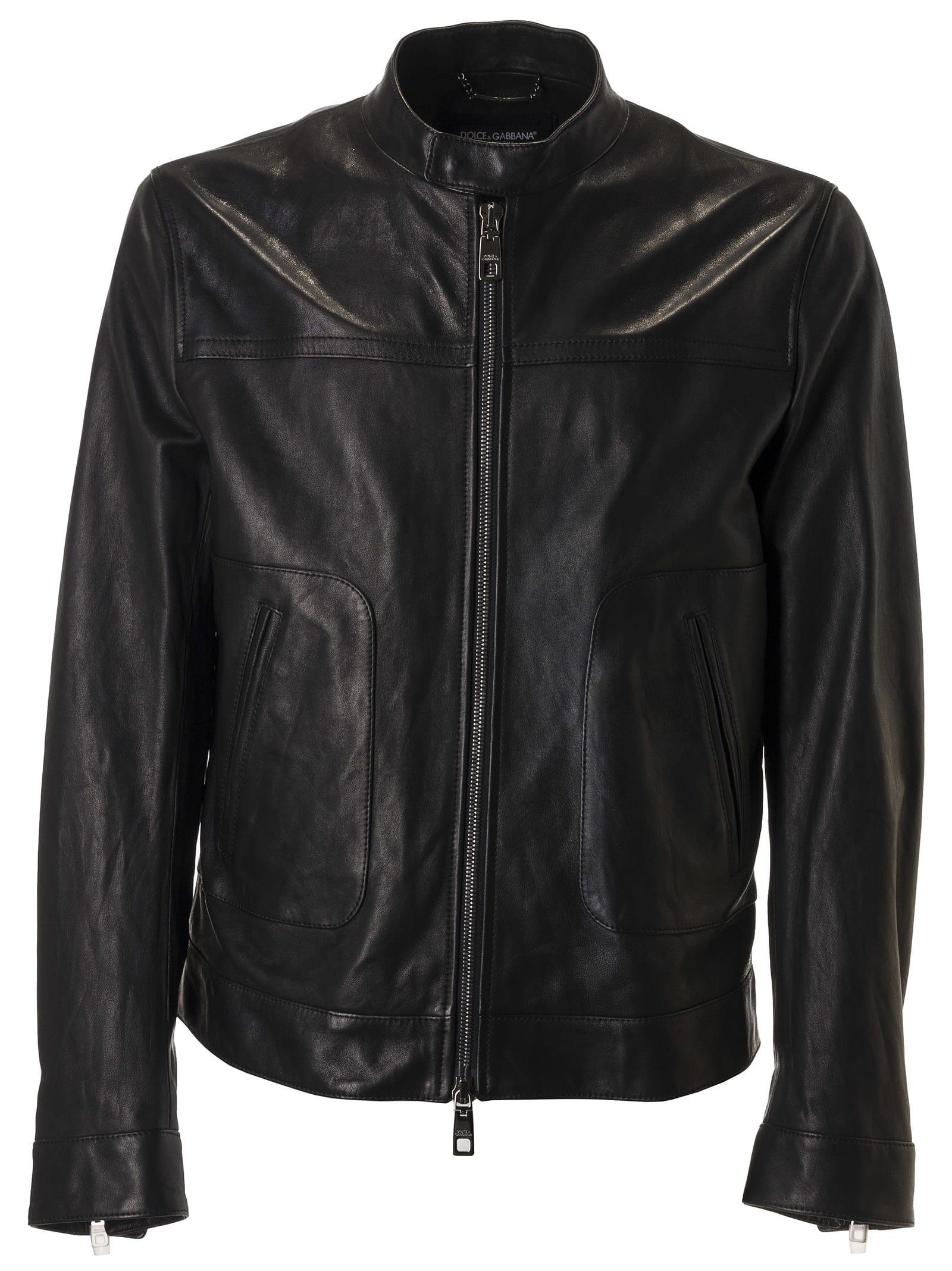 Dolce & Gabbana Round Neck Zipped Jacket