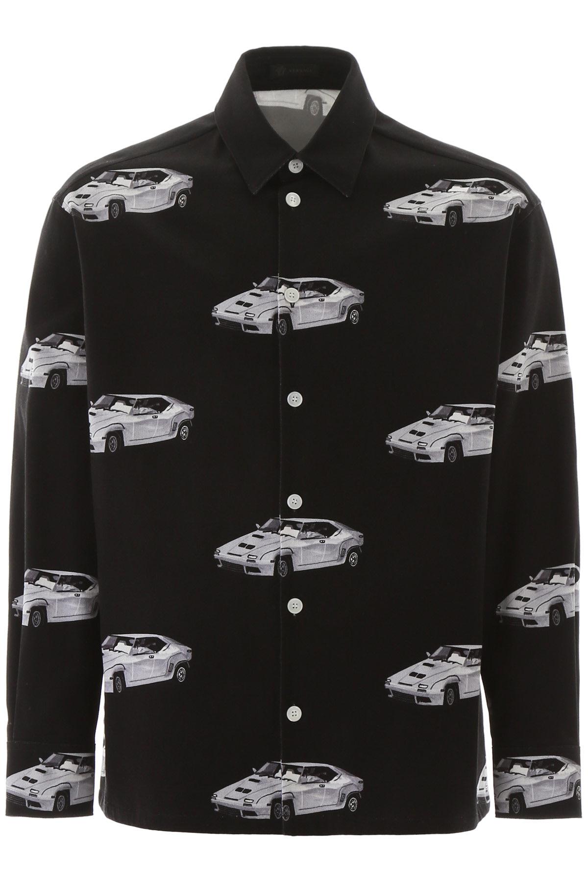 Versace Car Print Denim Jacket