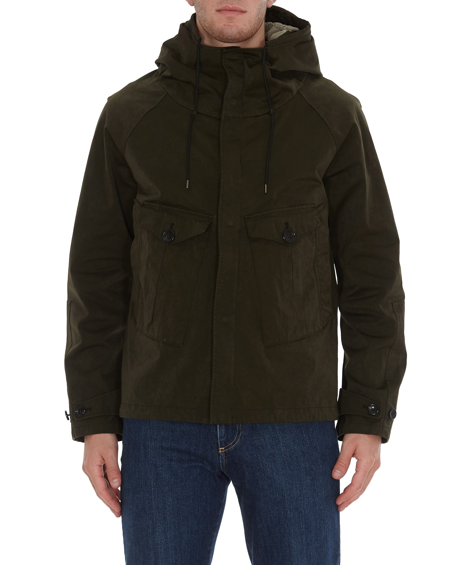man jacket, anorak model, greenComposition: 60% Polyester +, 40% Polyamide - Lining:, 100% Cotton