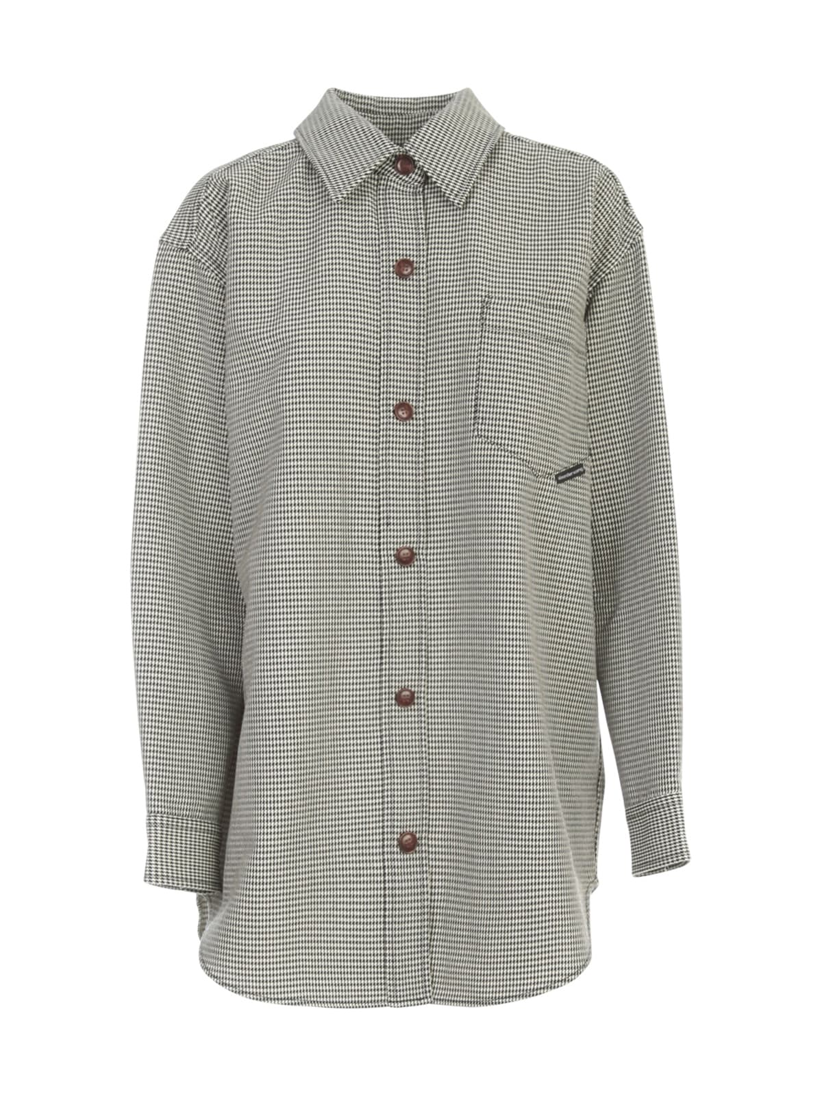 Alexander Wang OVERSIZED SHIRT JACKET W/SNAP BUTTONS