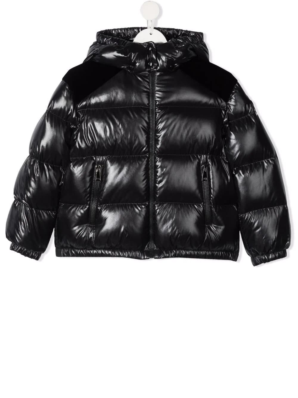 Moncler Kids Black Chouelle Down Jacket