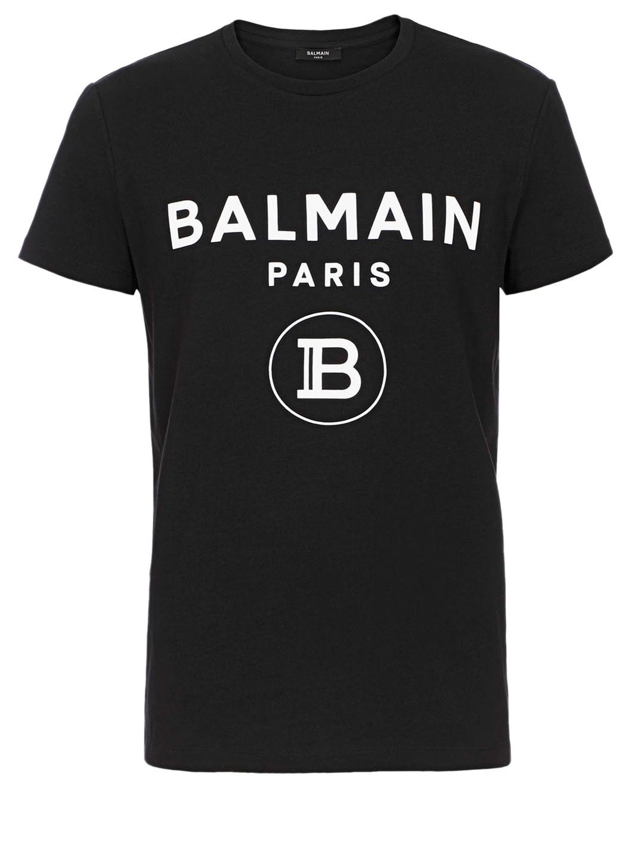 BALMAIN LOGO T-SHIRT BLACK