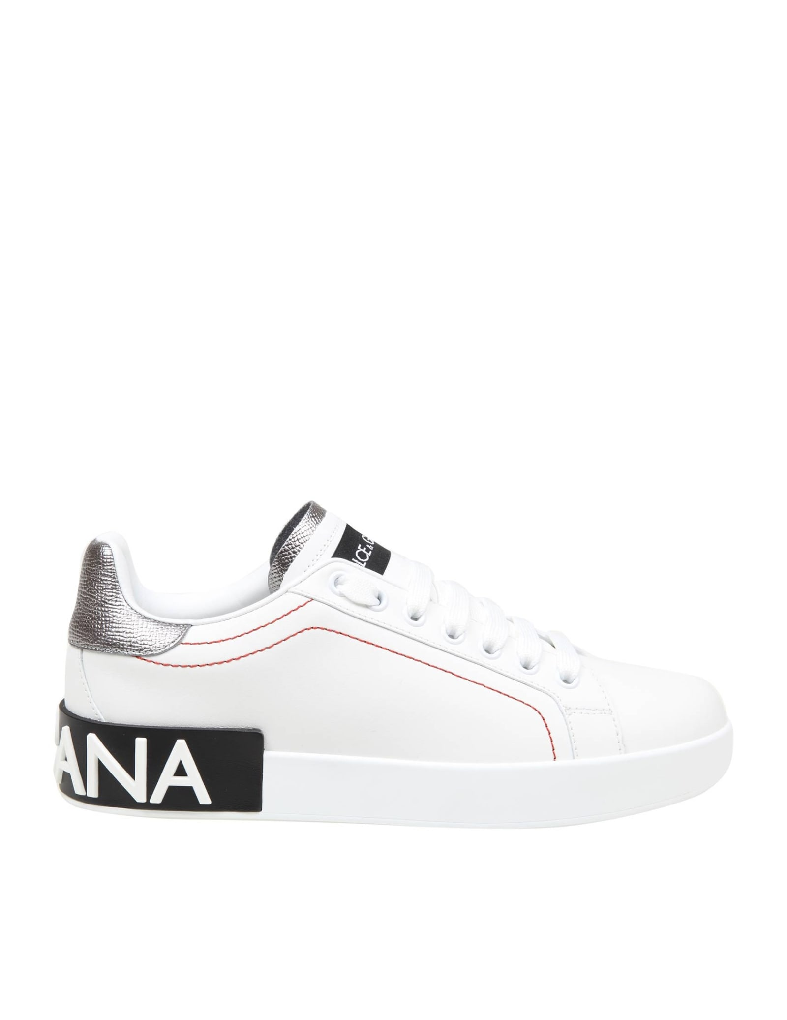 Dolce & Gabbana PORTOFINO SNEAKERS IN WHITE LEATHER