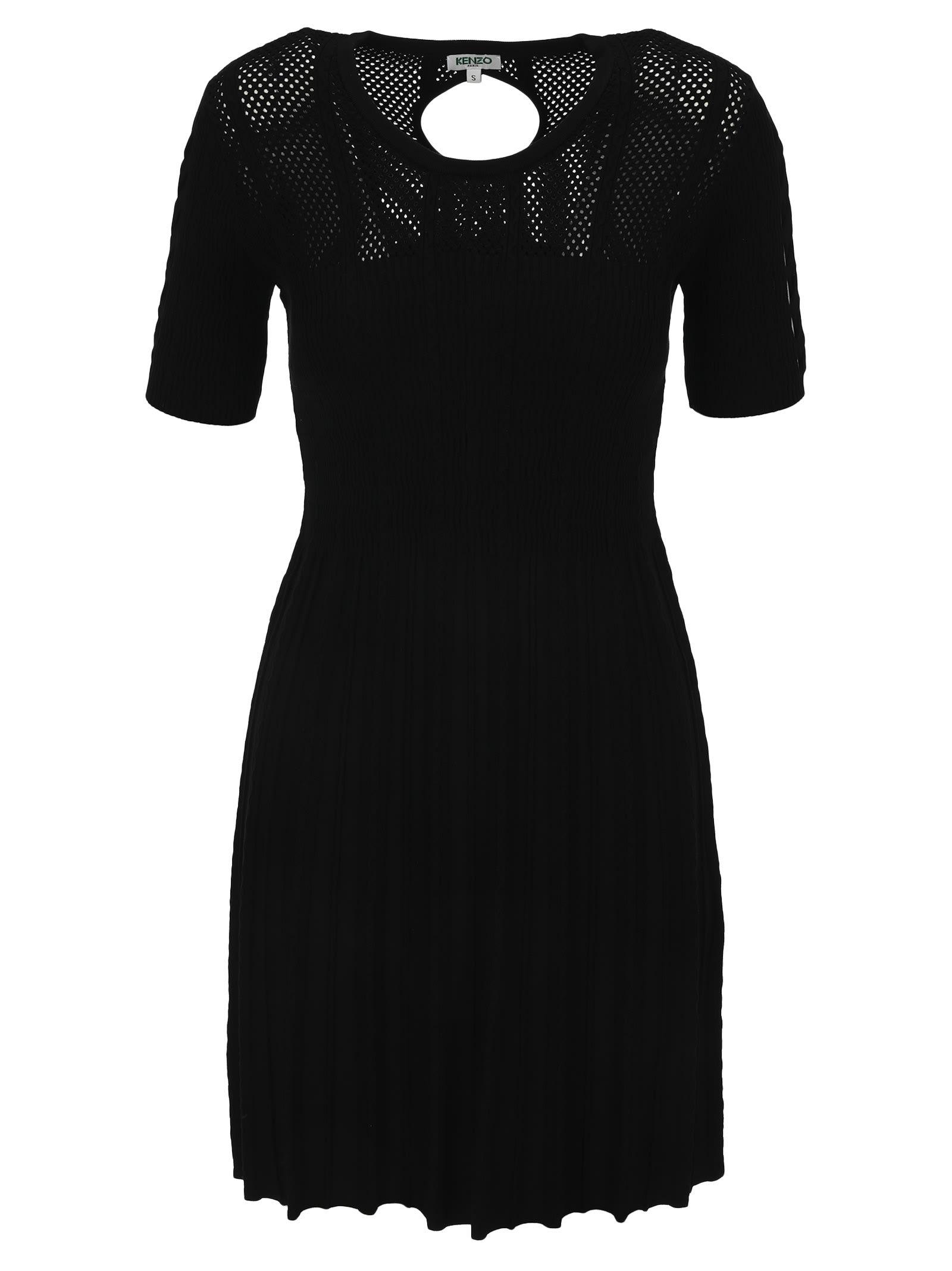 Buy Kenzo Openwork Knit Dress online, shop Kenzo with free shipping