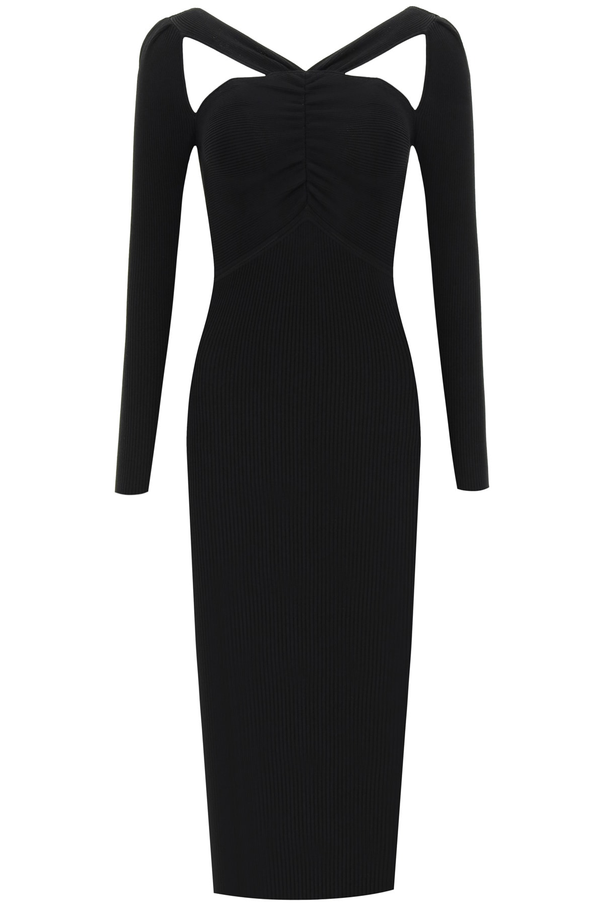 Buy self-portrait Knit Dress With Cut-out online, shop self-portrait with free shipping