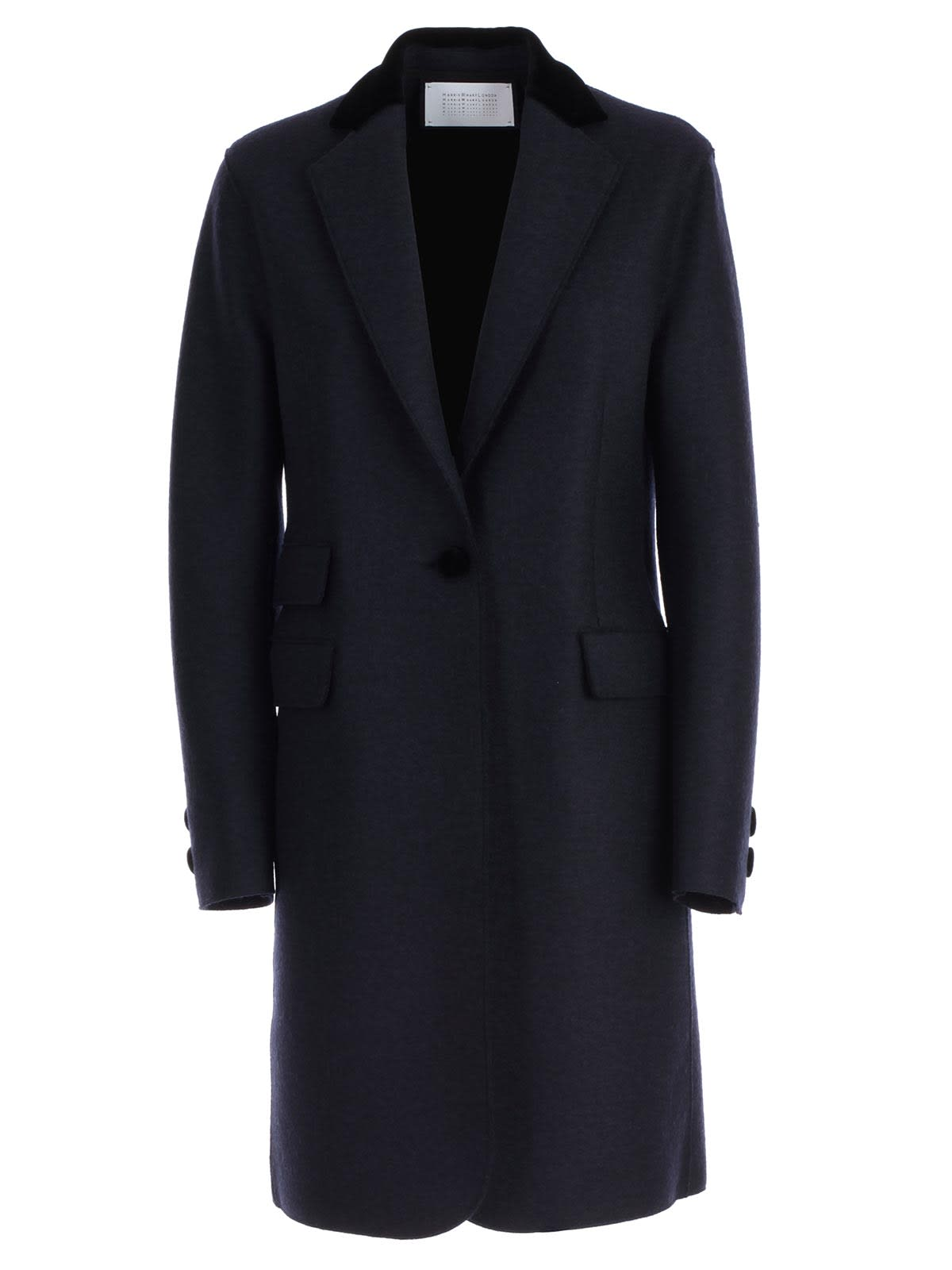 Harris Wharf London Coat Single Breasted Velvet Collar