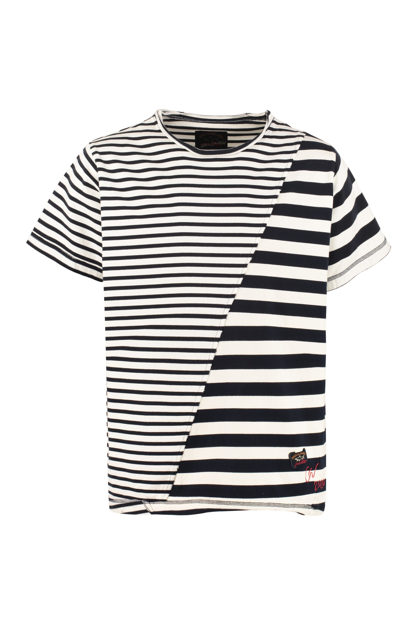 Greg Lauren Striped Cotton T-shirt