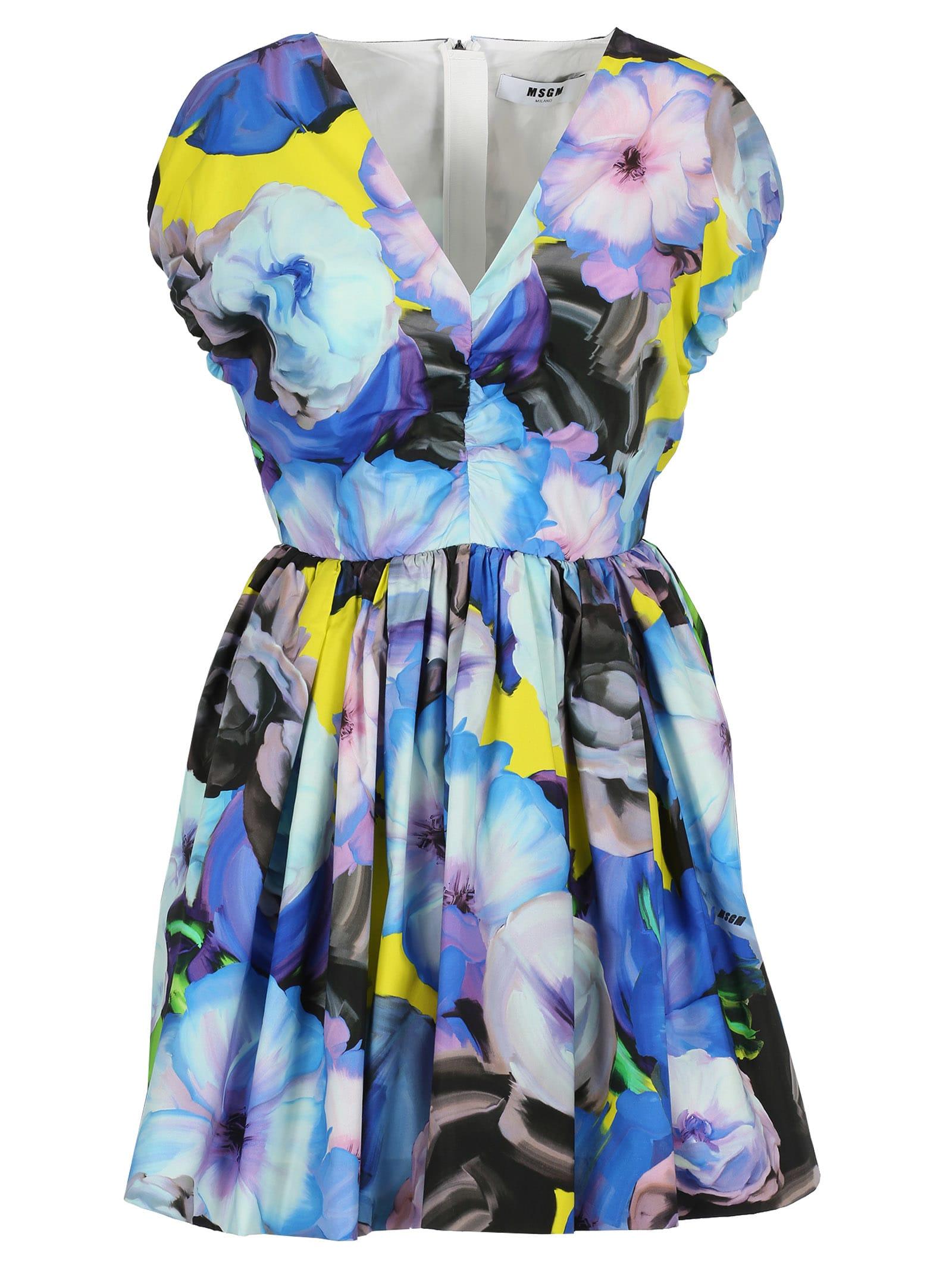 Msgm Msgm Floral Print Mini Dress