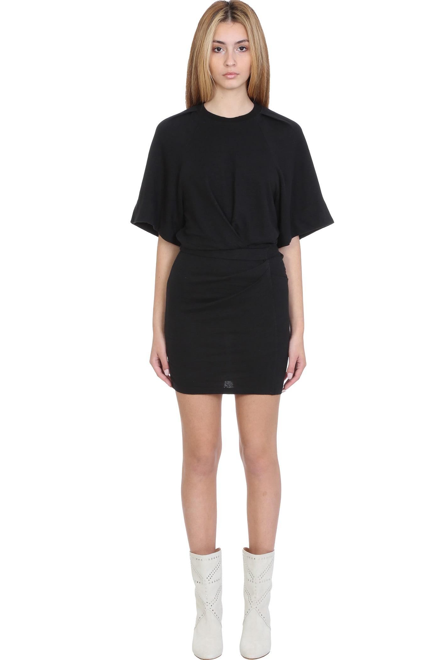Buy IRO Livy Dress In Black Linen online, shop IRO with free shipping