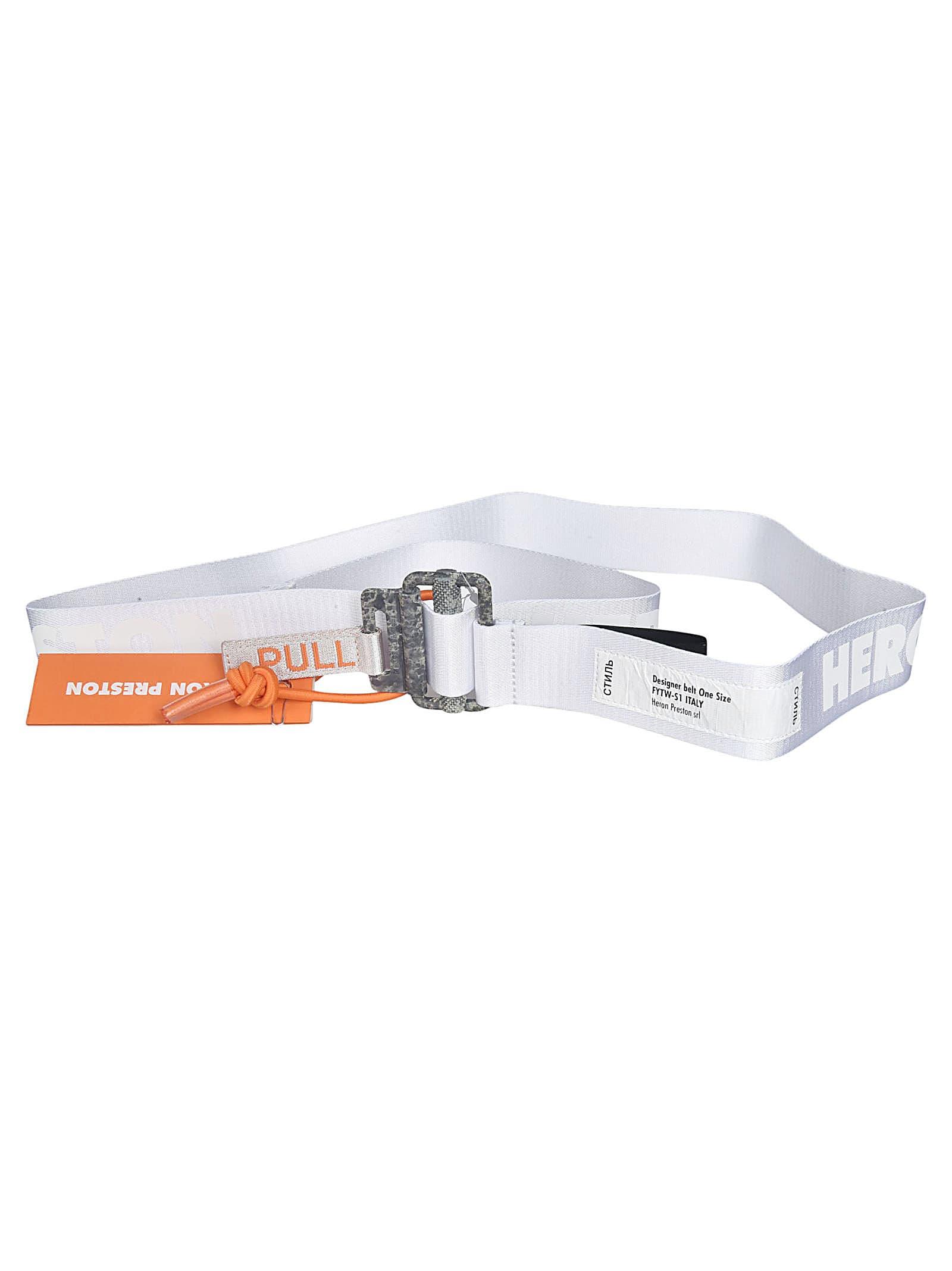 HERON PRESTON White Reflective Tape Belt