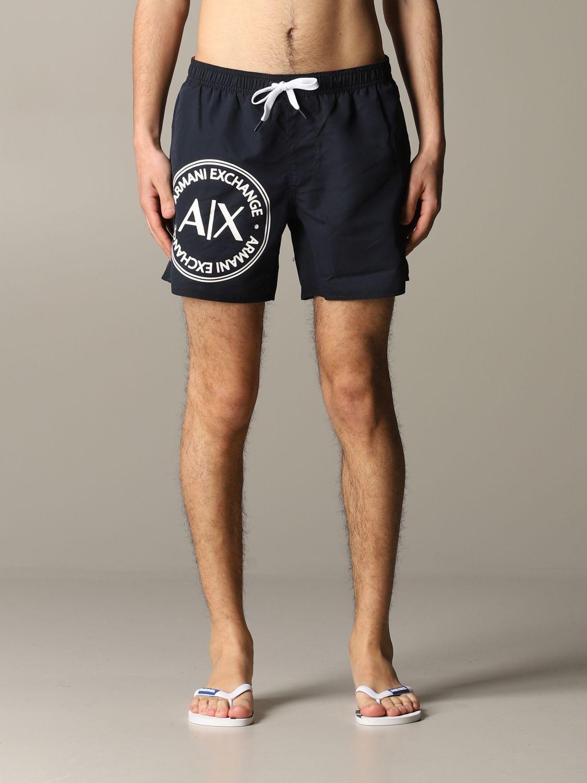 Armani Exchange Swimsuit Armani Exchange Boxer Swimsuit In Nylon With Logo