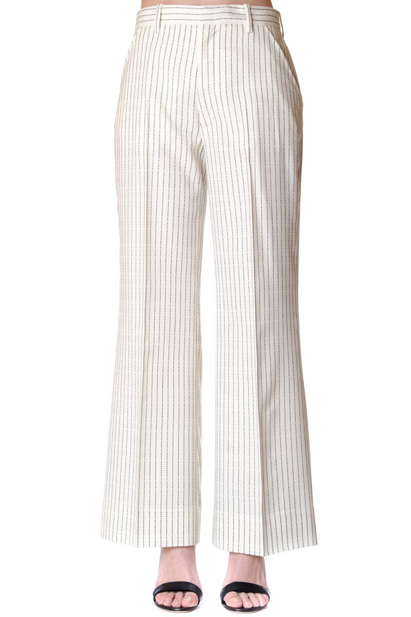 Maison Margiela Wool Pinstripe Trousers