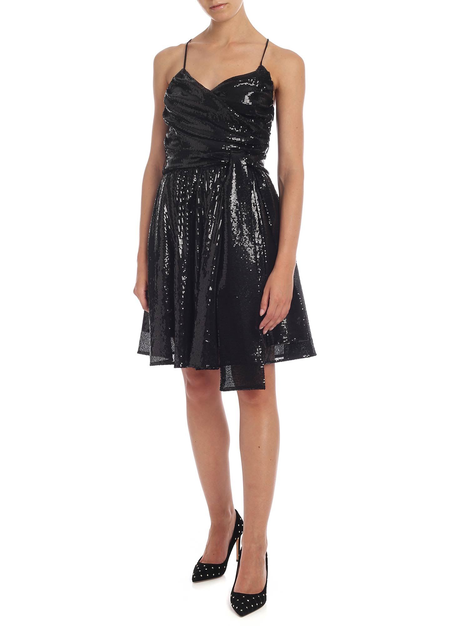 MSGM Black Sequin Dress