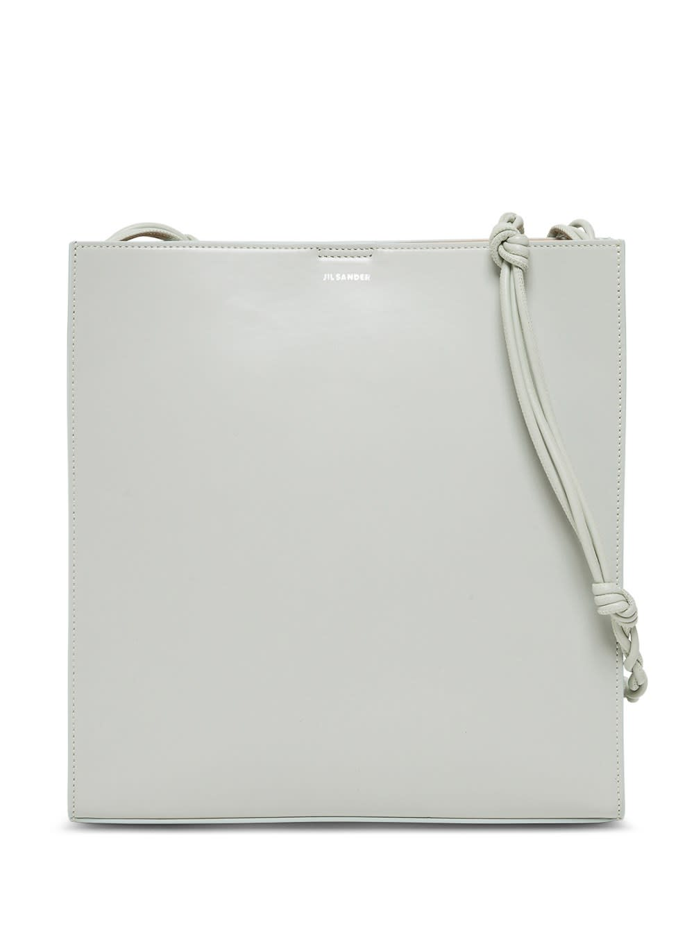 Jil Sander Tangle Crossbody Bag In Sage Colored Leather In Green