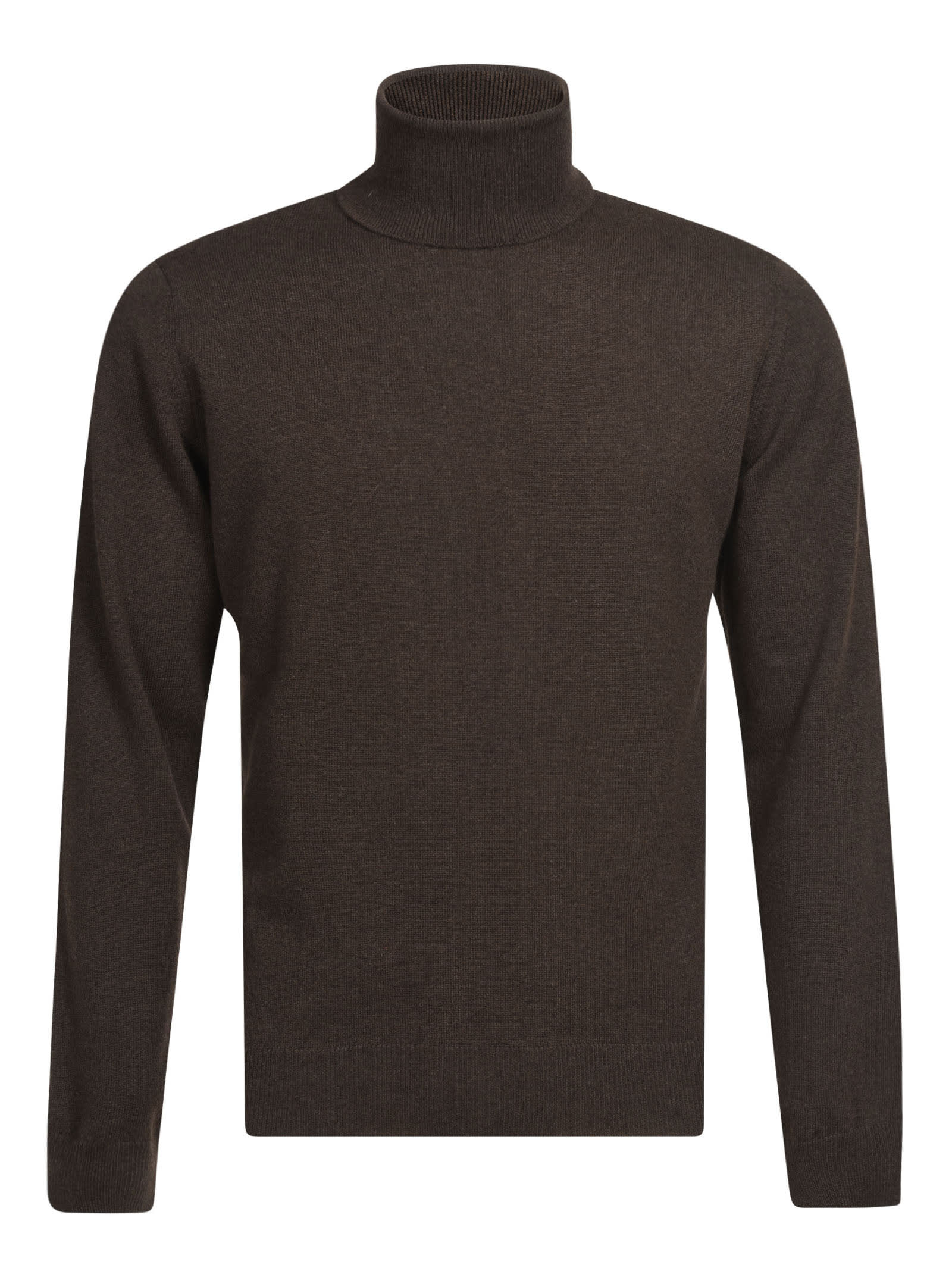 Turtleneck Plain Sweater