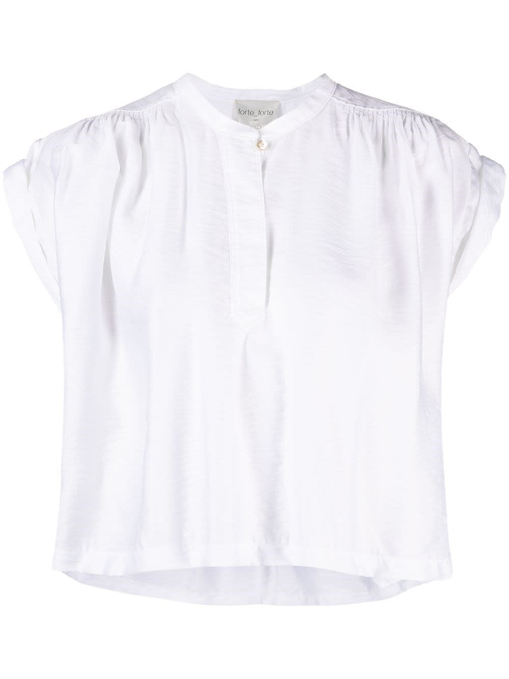 Forte Forte WHITE MODAL PLEATED TOP