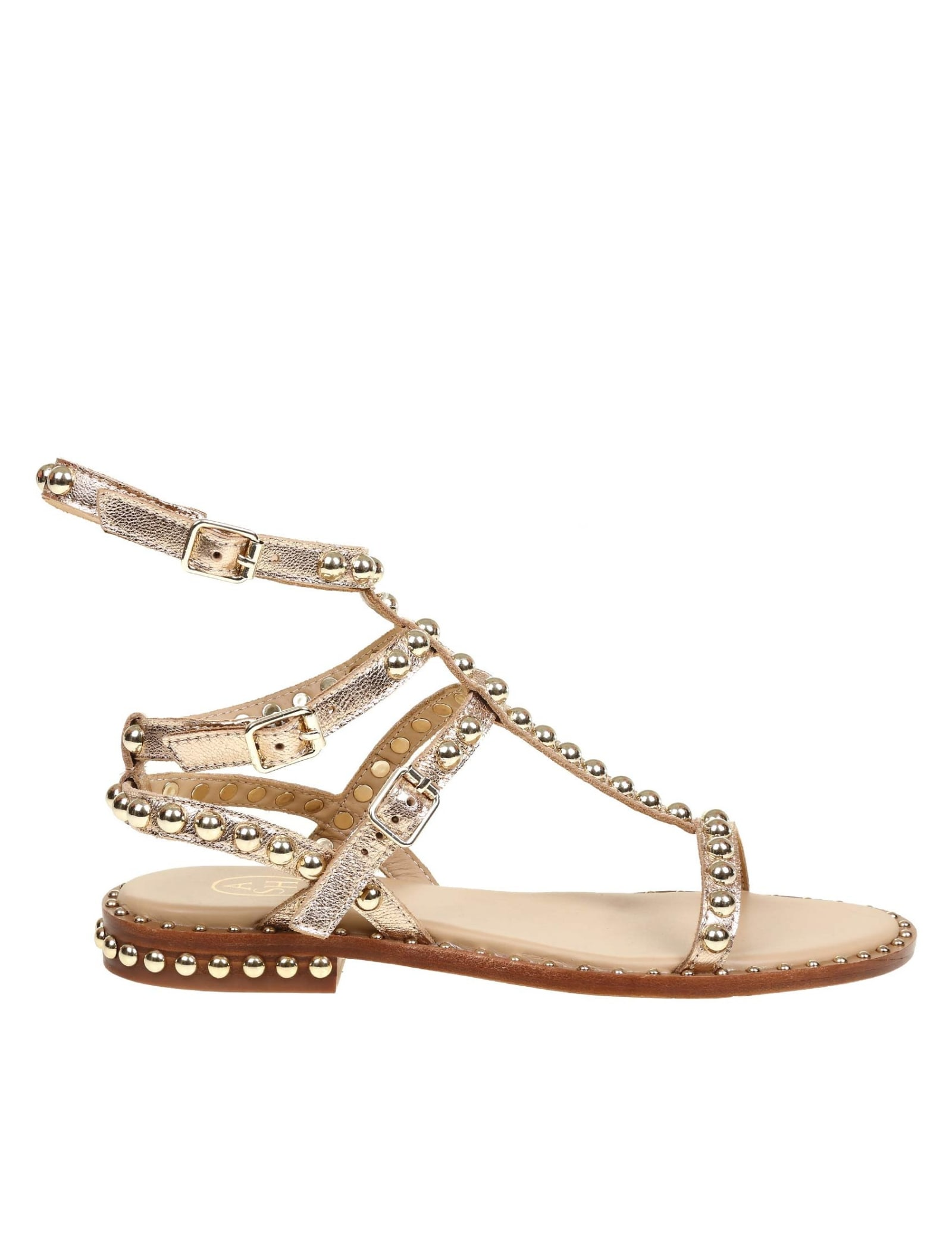 Ash Sandals LEATHER PLAY SANDAL WITH STUDS