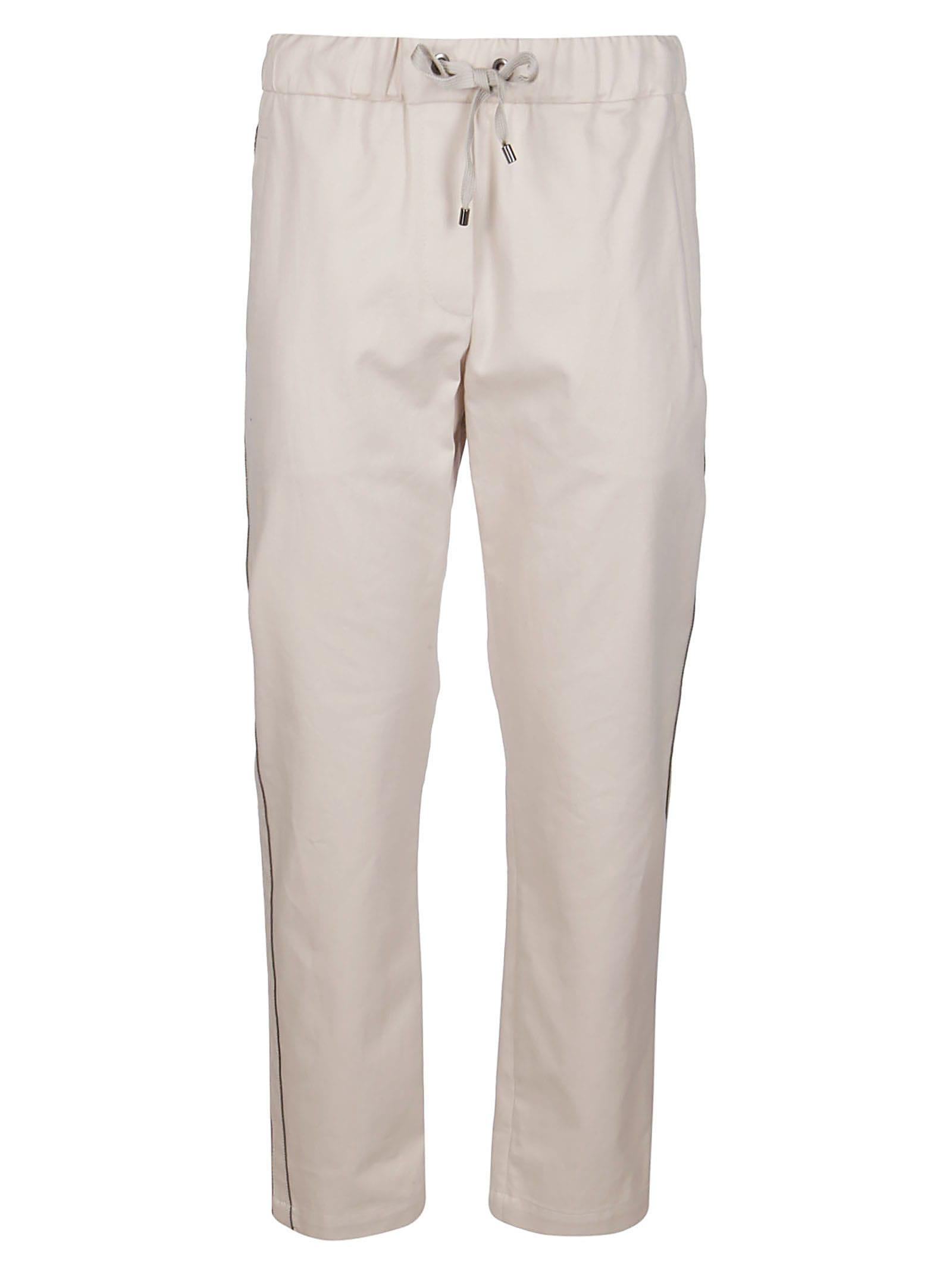 Brunello Cucinelli Beige Cotton Track Pants
