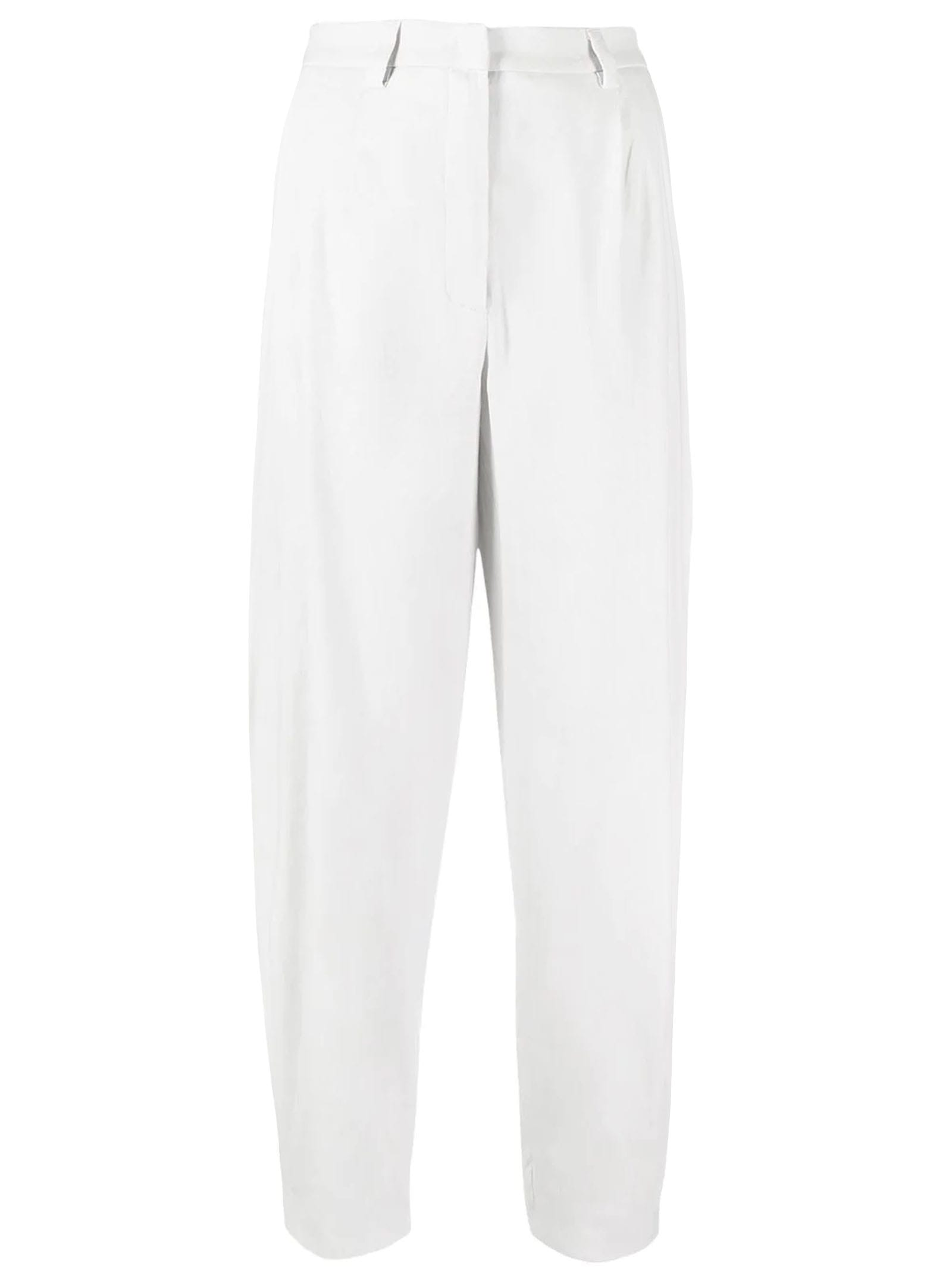 Fabiana Filippi LINEN AND COTTON TROUSERS, MINERAL