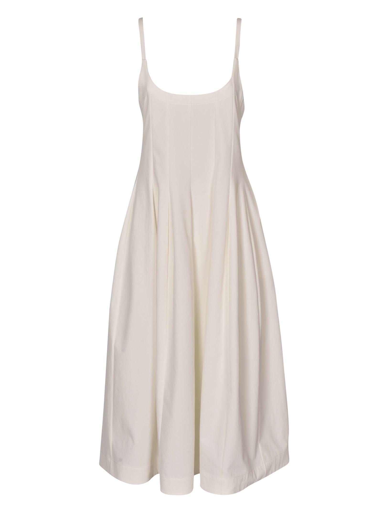 Buy Sleeveless Detail Long Length Dress online, shop Jil Sander with free shipping