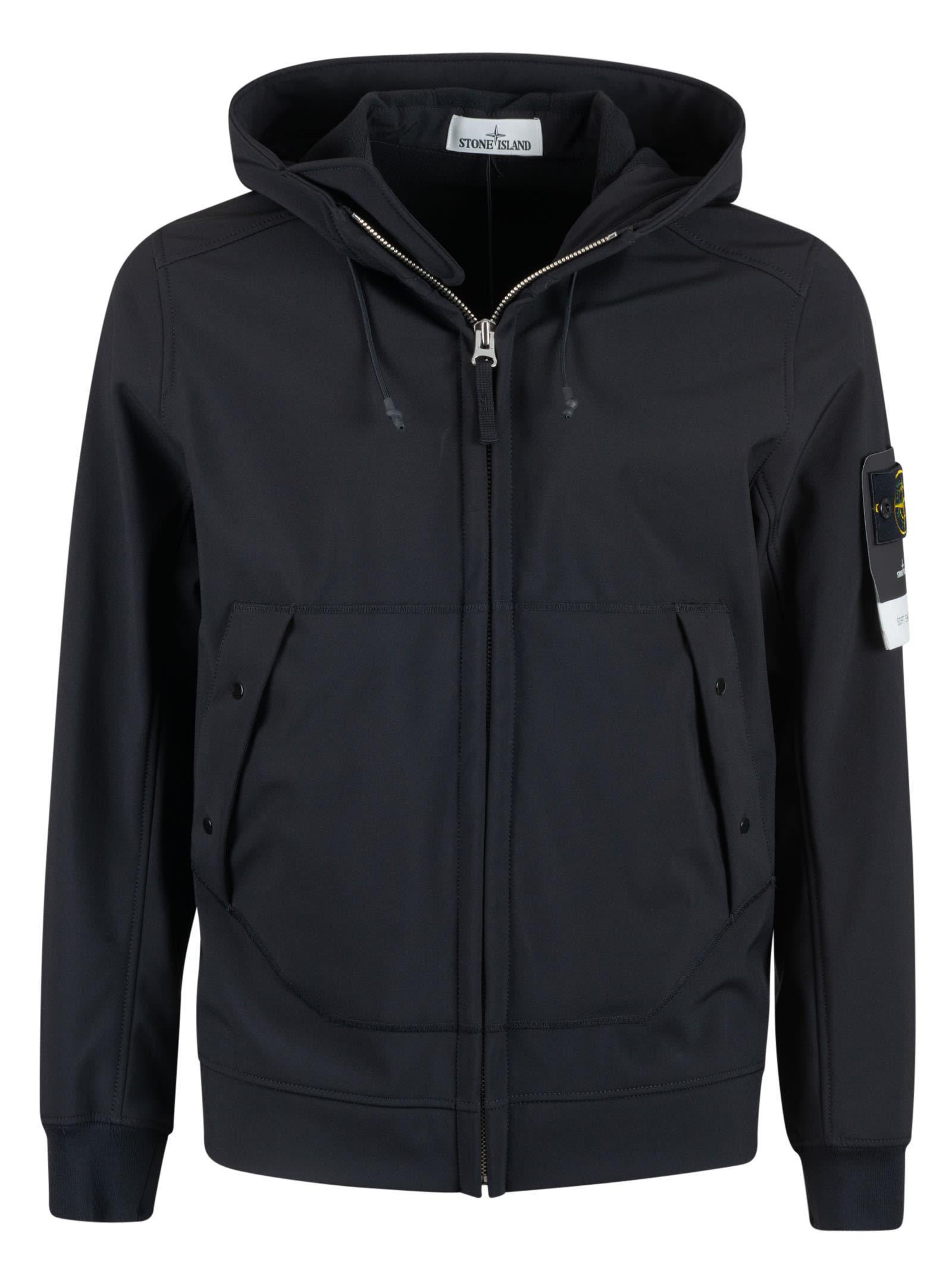Stone Island Side Buttoned Pocket Hooded Jacket