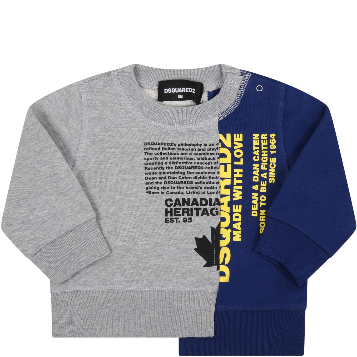 Dsquared2 MULTICOLOR SWEATSHIRT FOR BABYBOY WITH LOGO