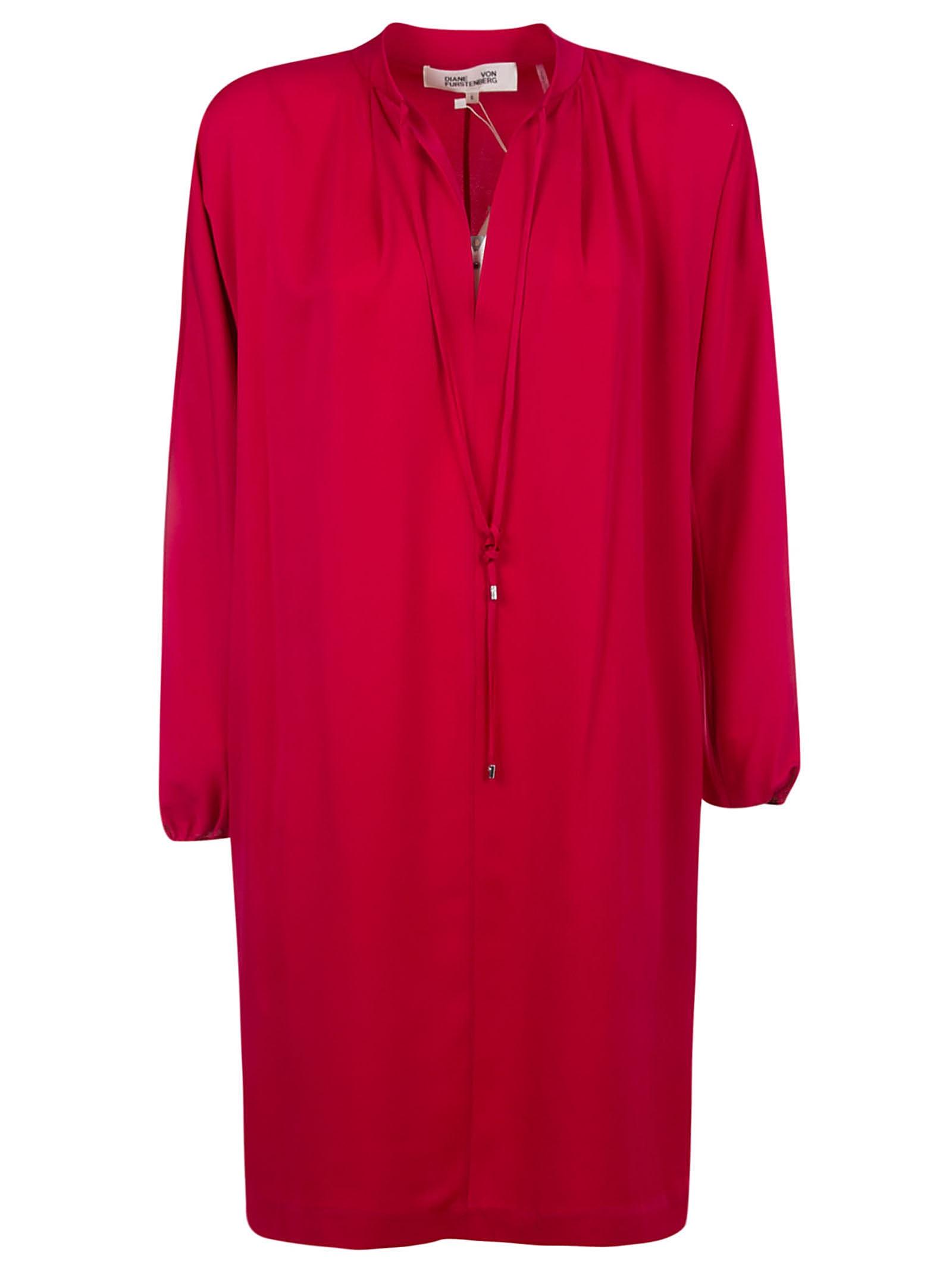 Buy Diane Von Furstenberg Classic V-neck Dress online, shop Diane Von Furstenberg with free shipping